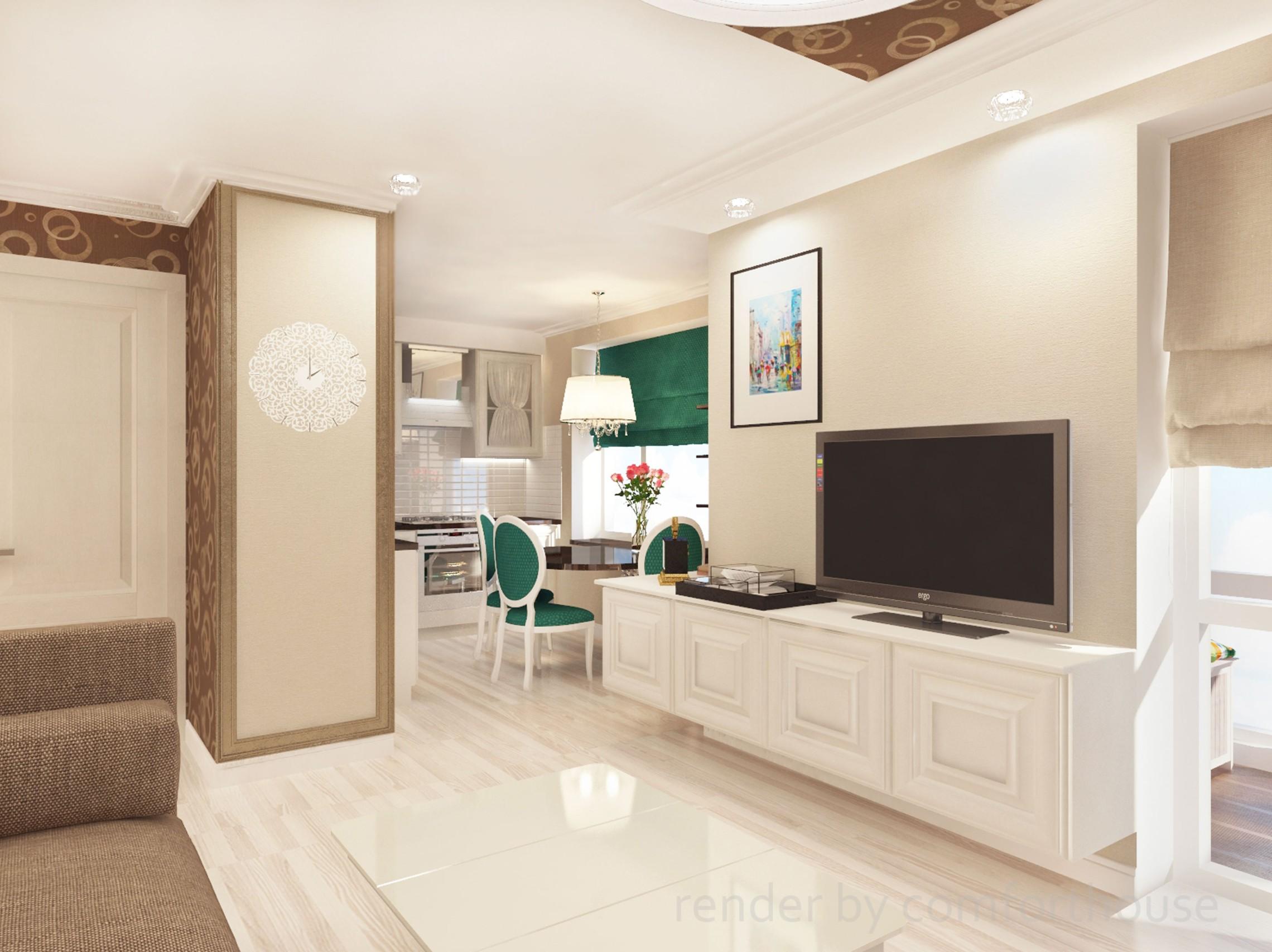 simple interior light kitchen