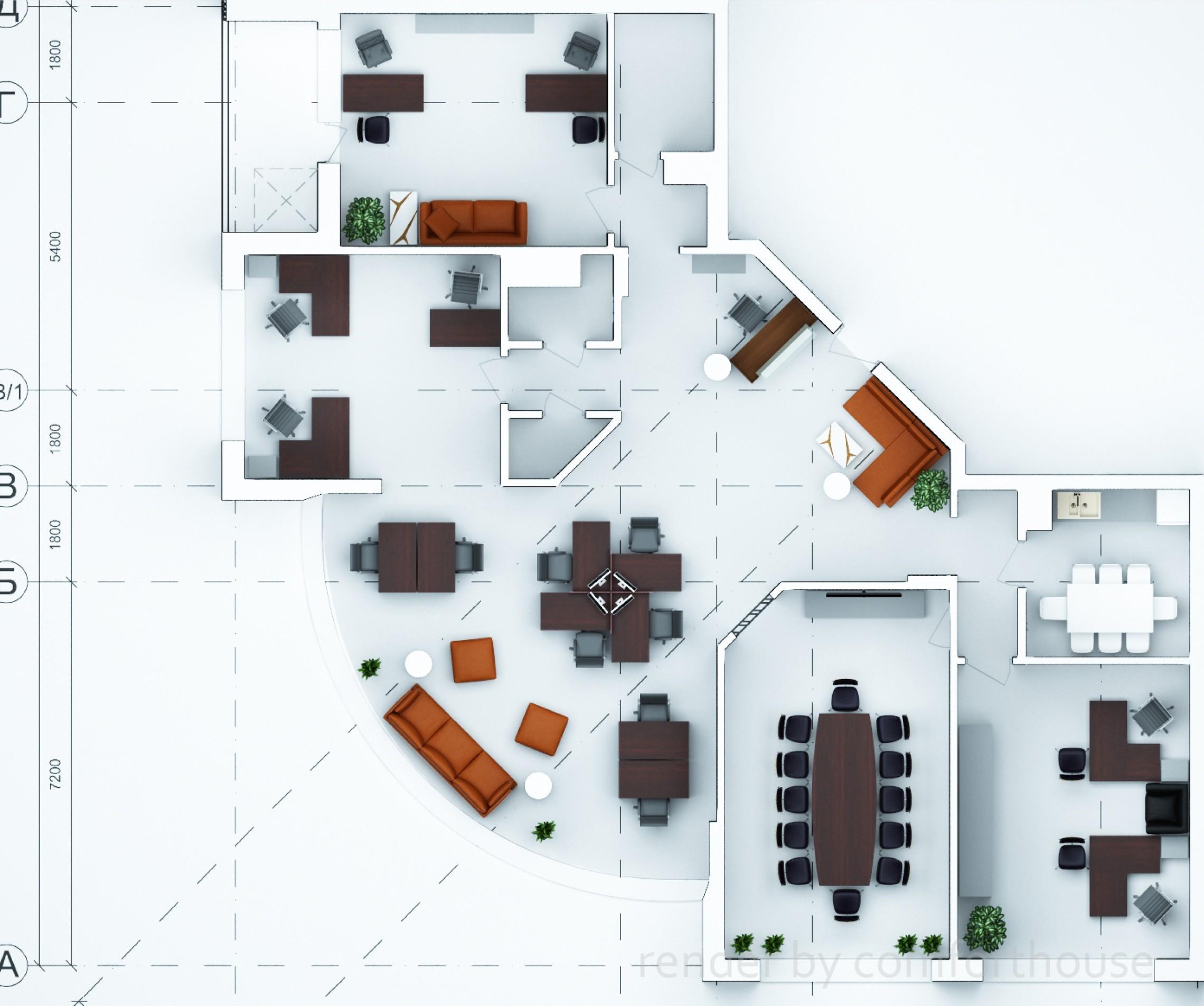3d furniture arrangement