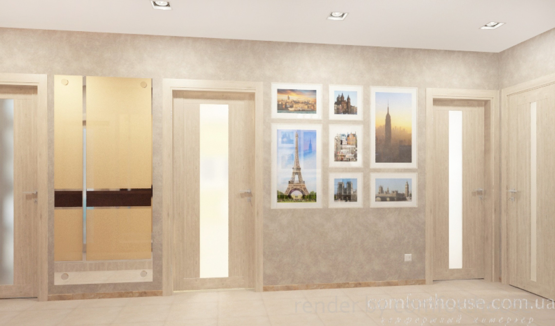 modern interior hall