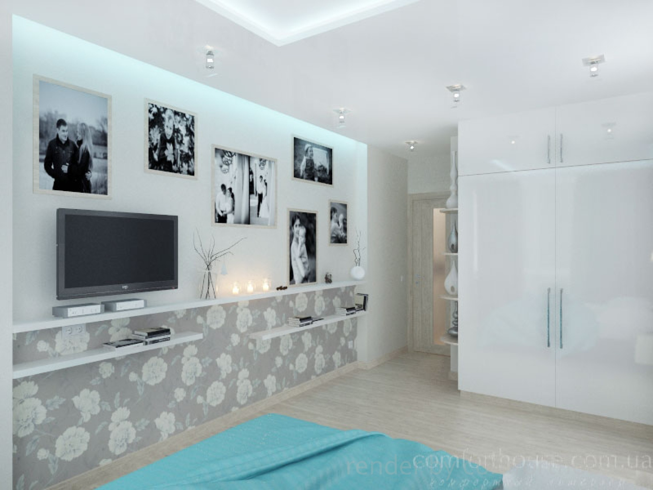 modern interior bedroom