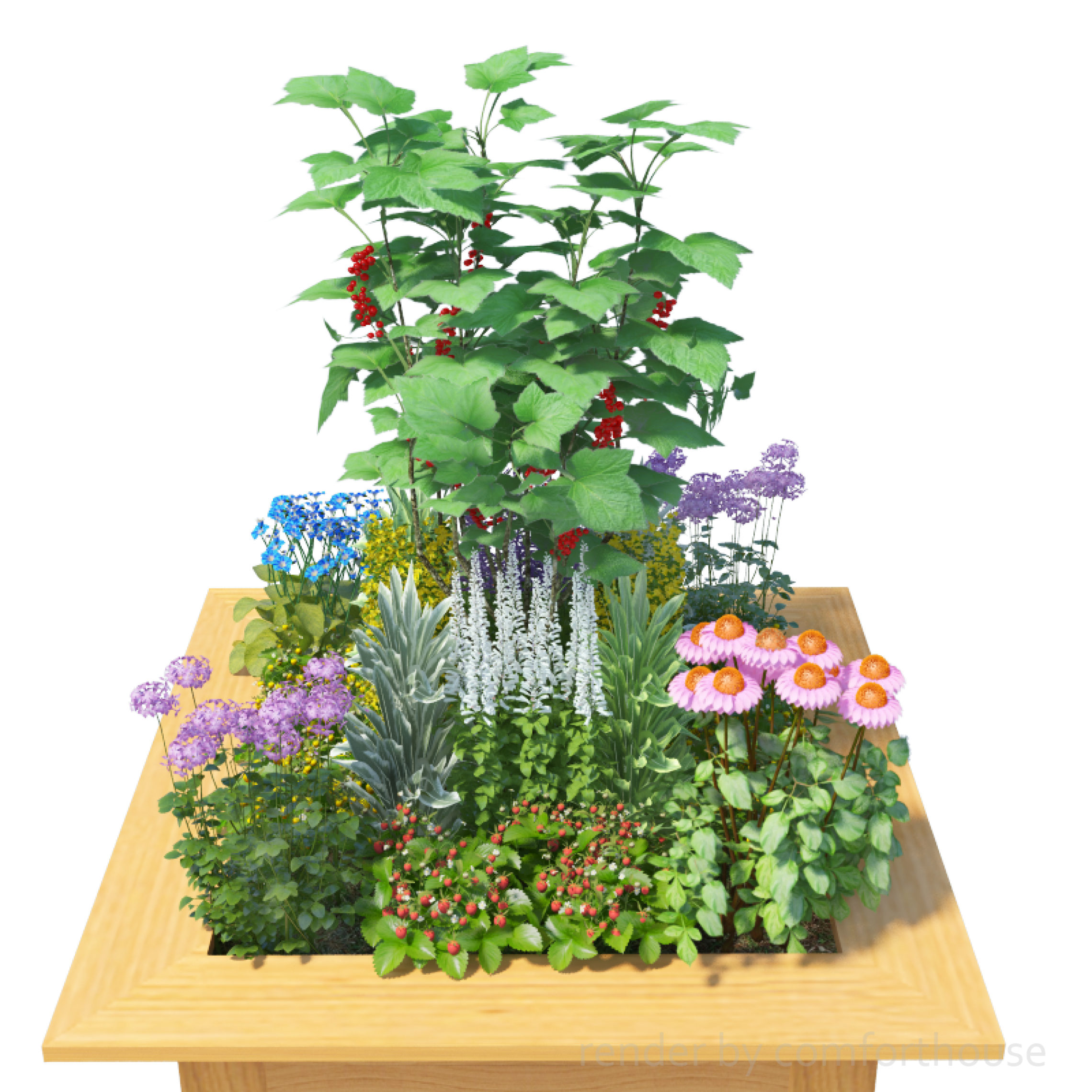 3d decorative flower bed