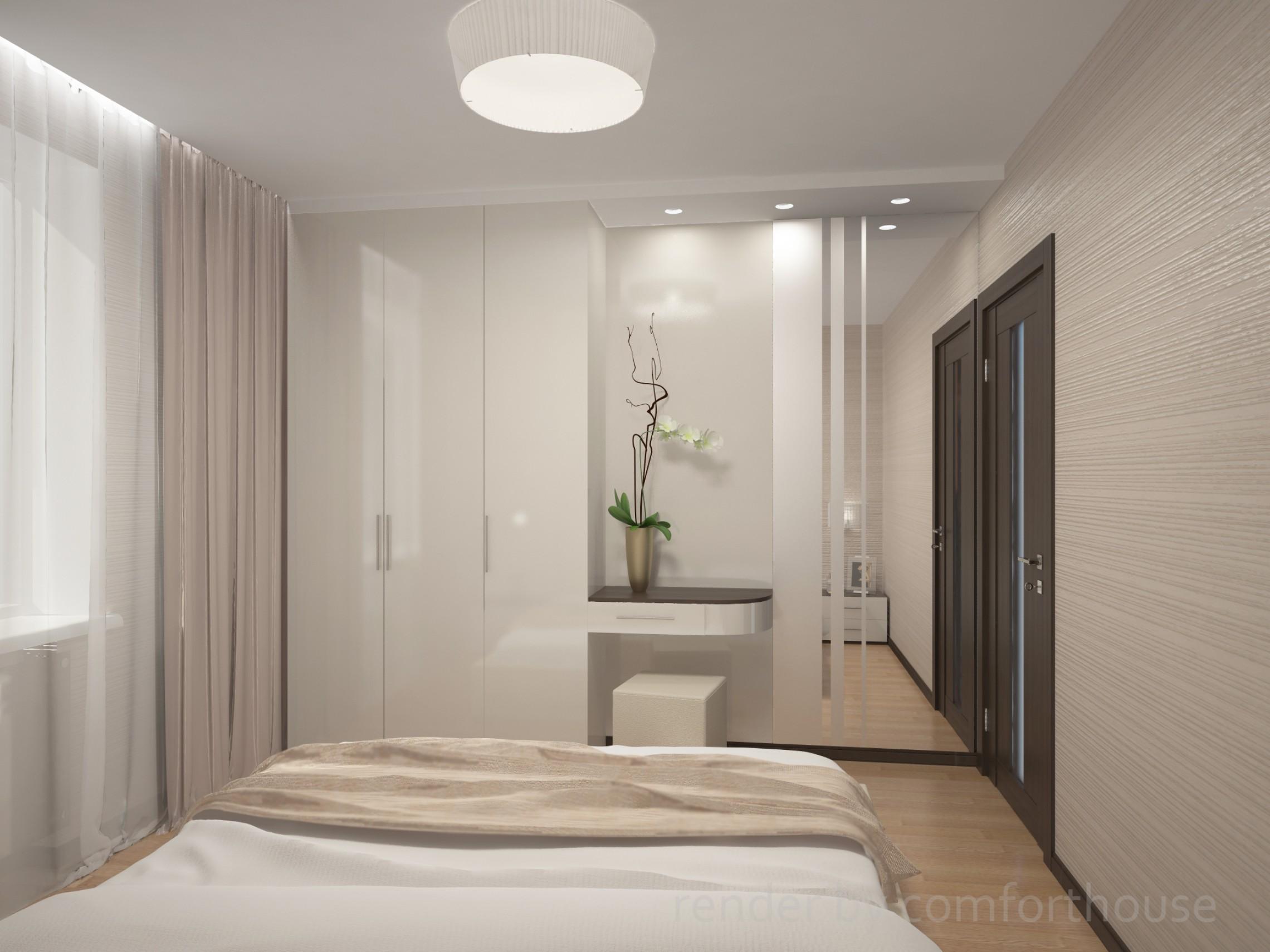 Interior in one color bedroom