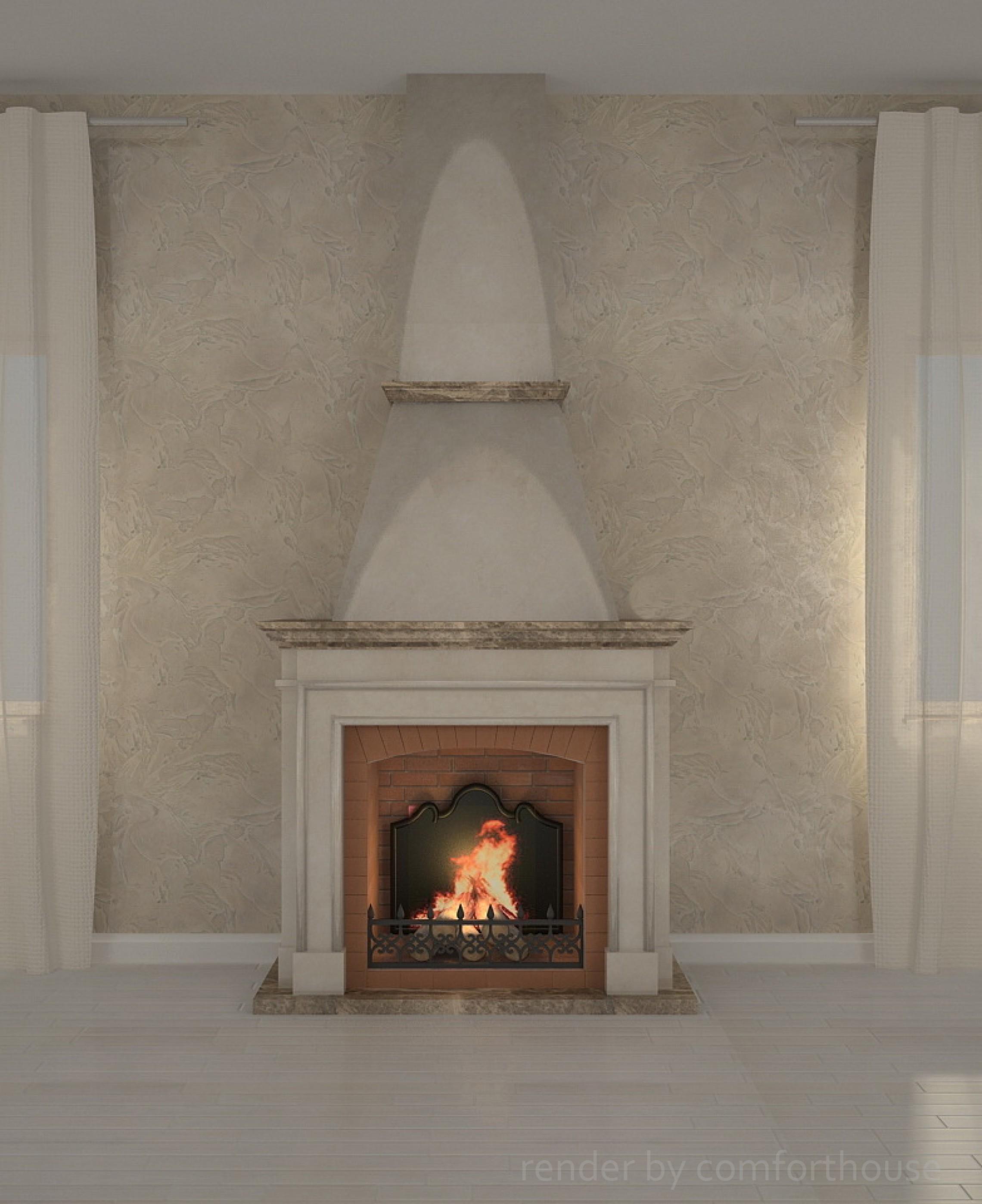 Fireplace 3D visualization