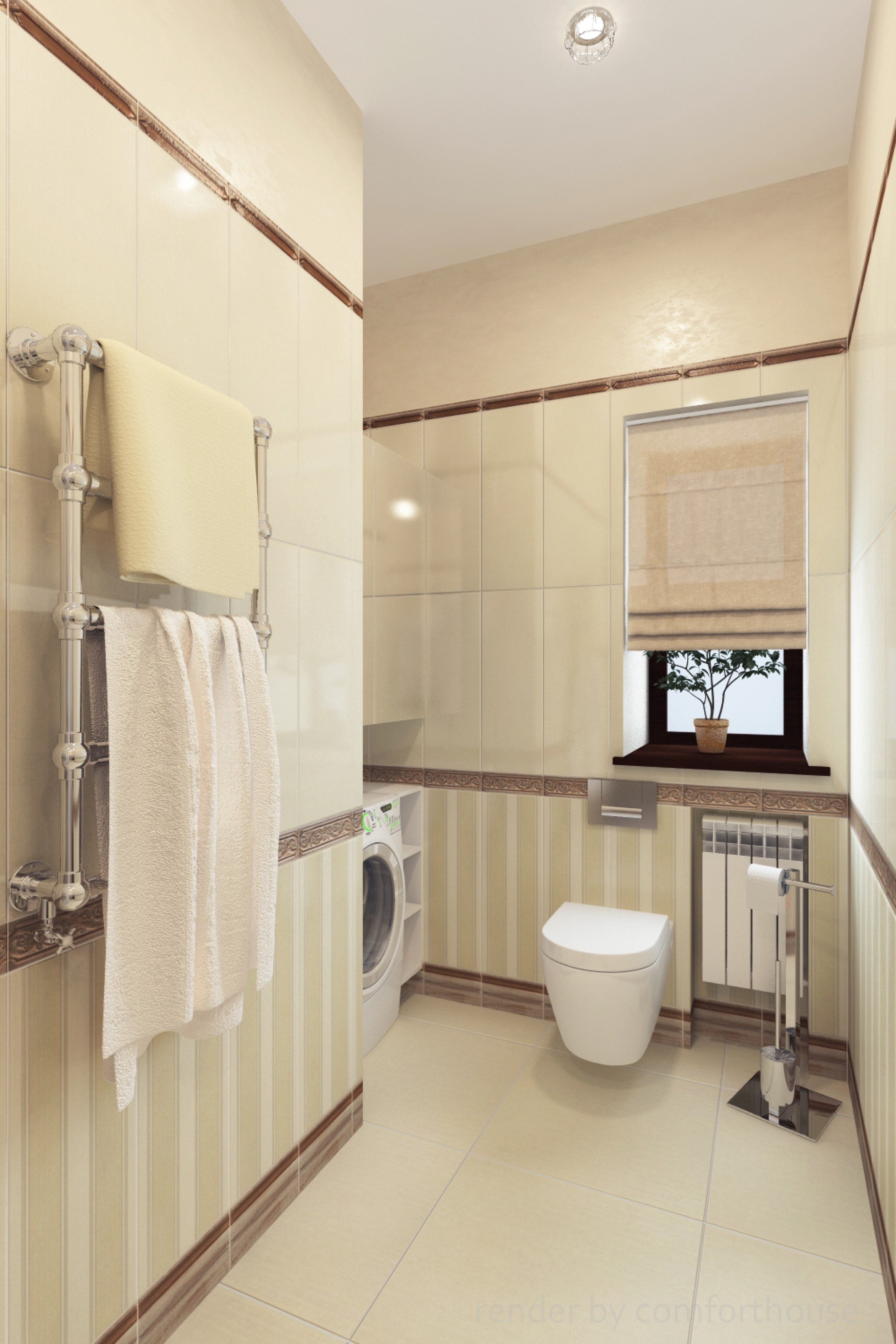 interior of classic bathroom