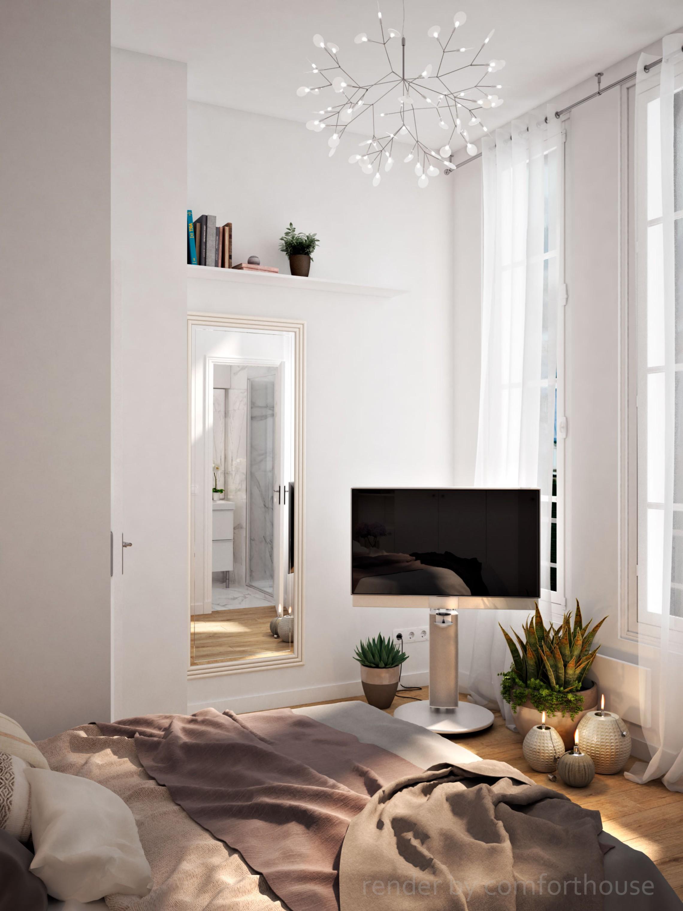 Paris interior bedroom