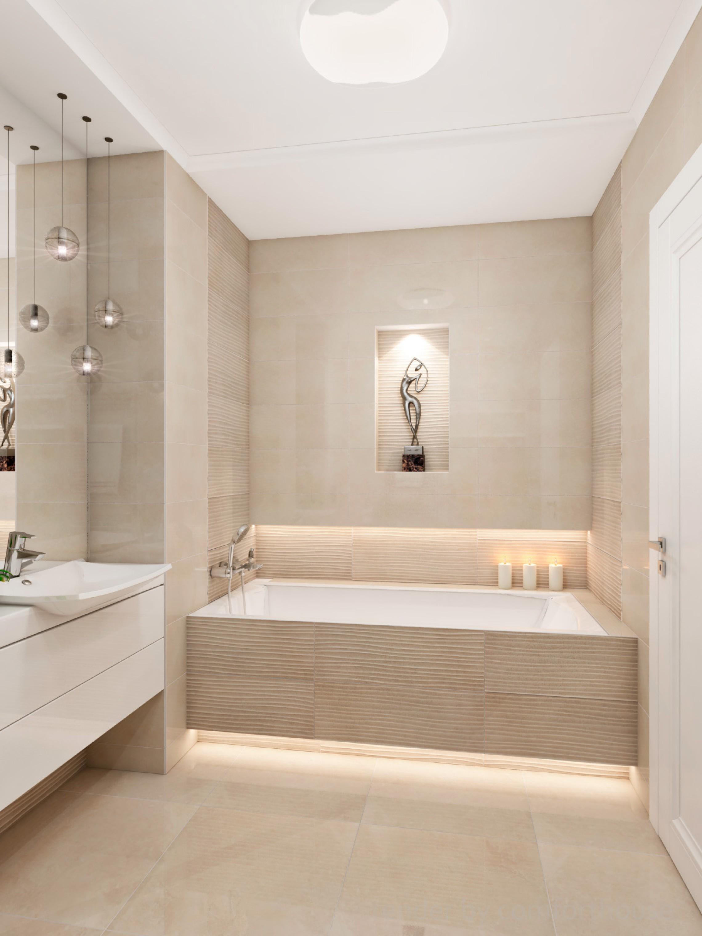 Elegant apartment bathroom