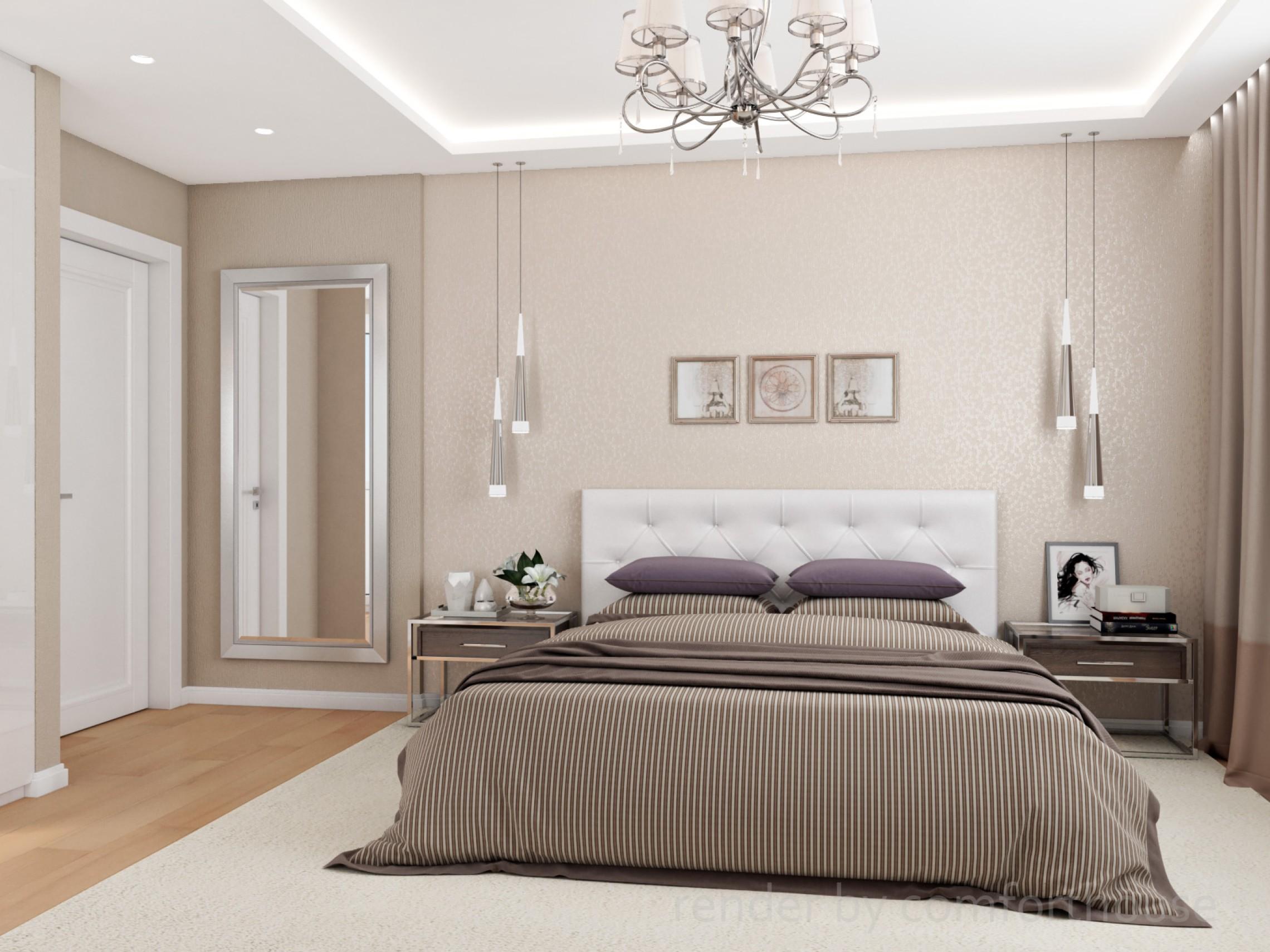Elegant apartment bedroom