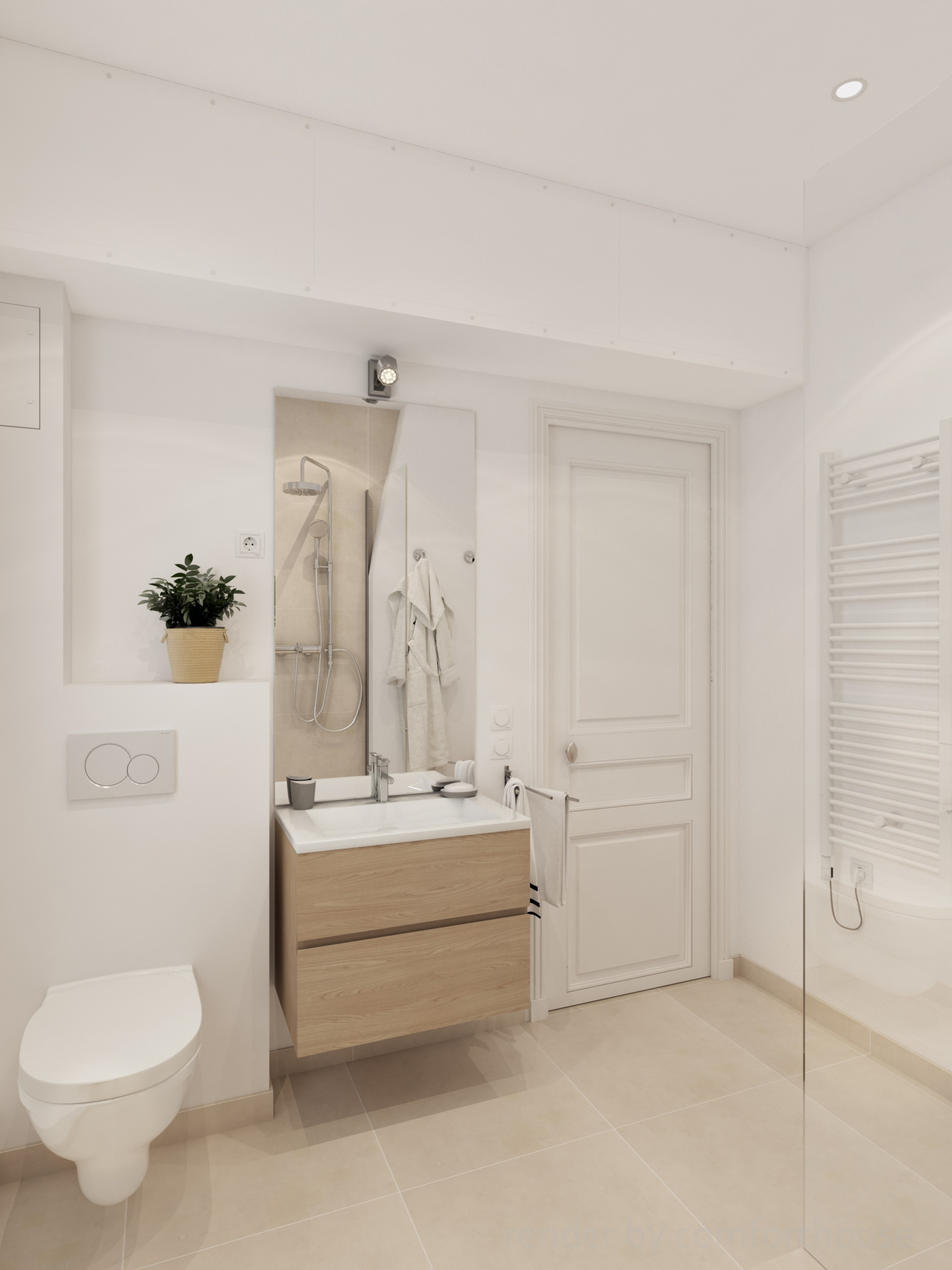 beautiful white interior