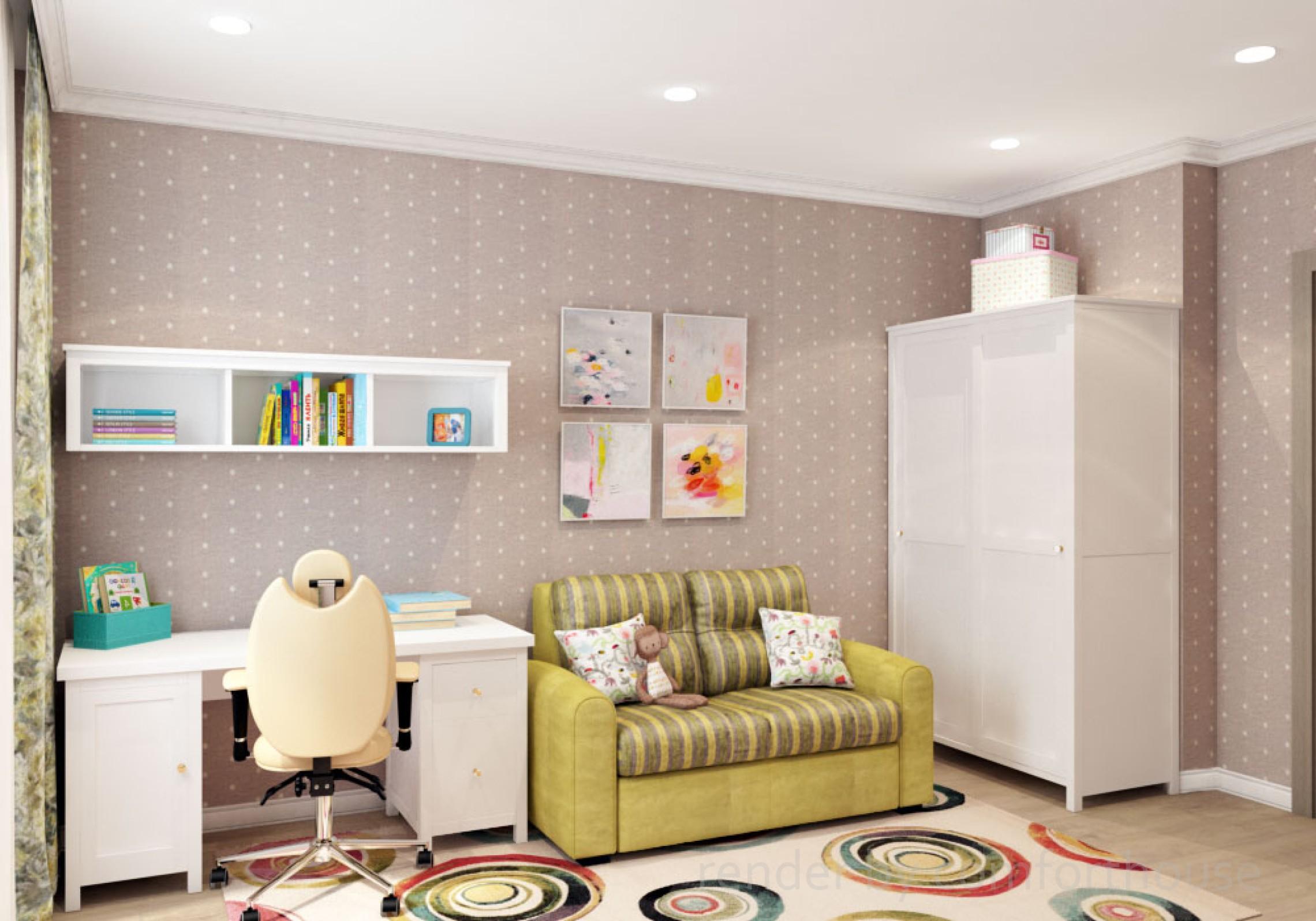 interior design kidsroom girl