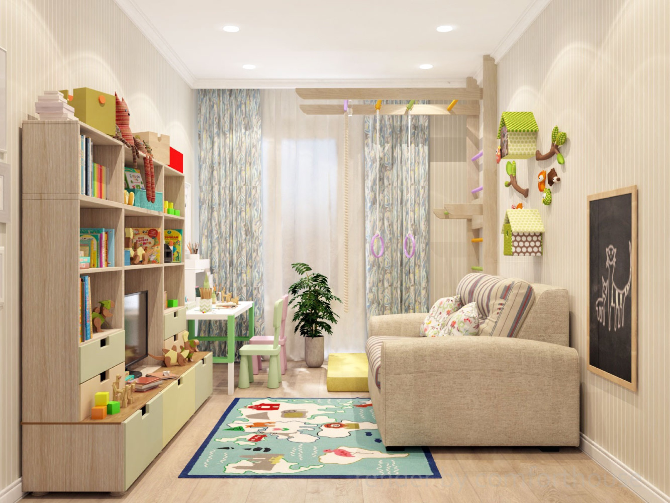 interior design kids room boy