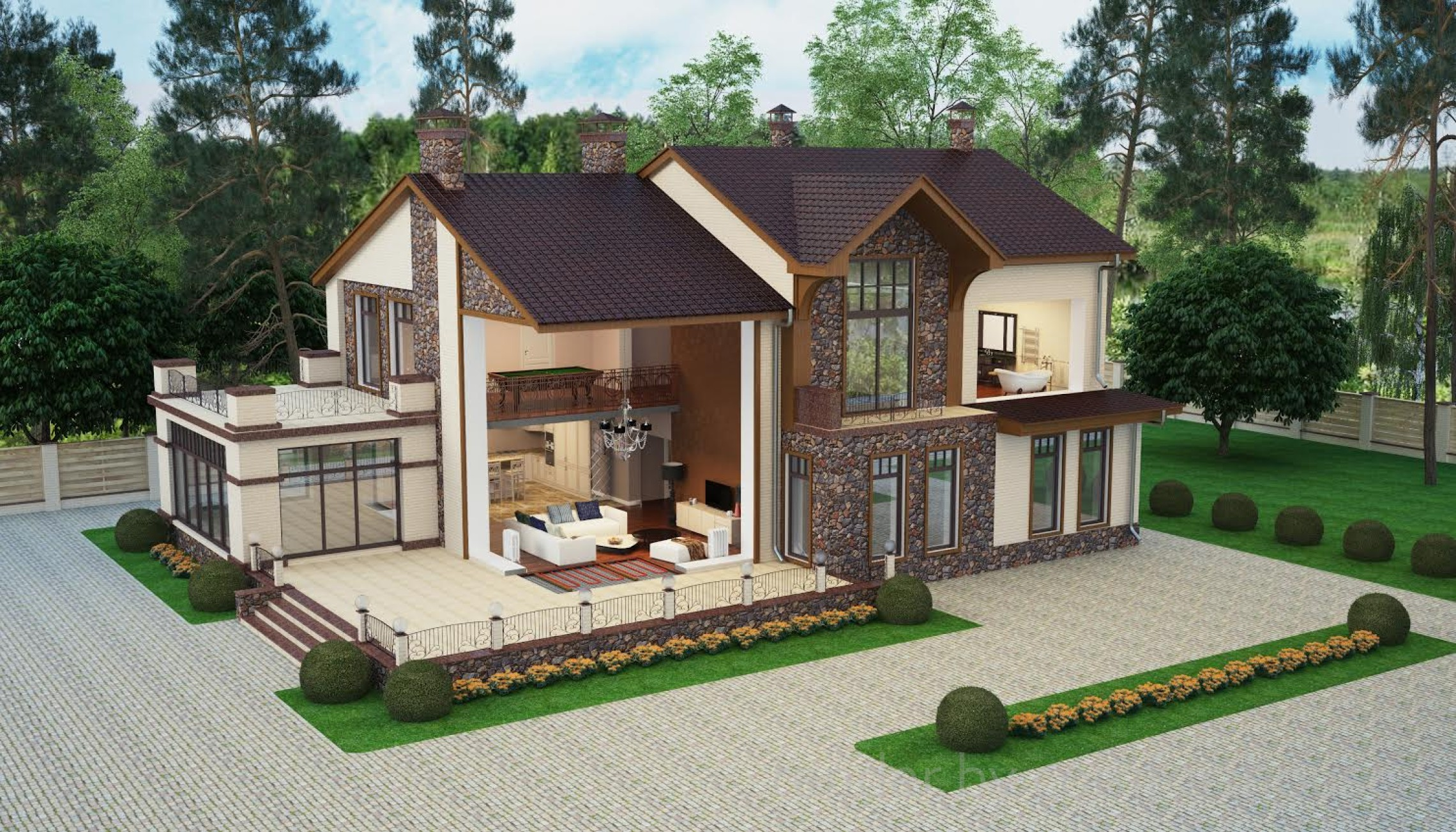 exterior 3d visualization