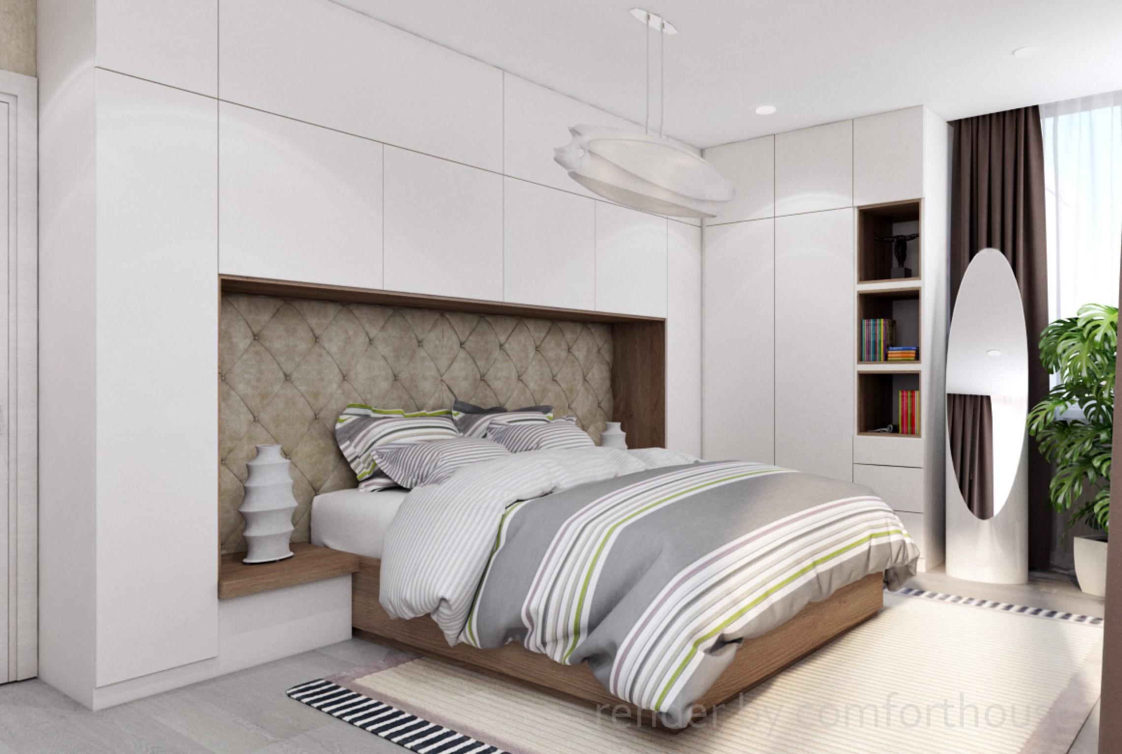 Modern light interior bedroom