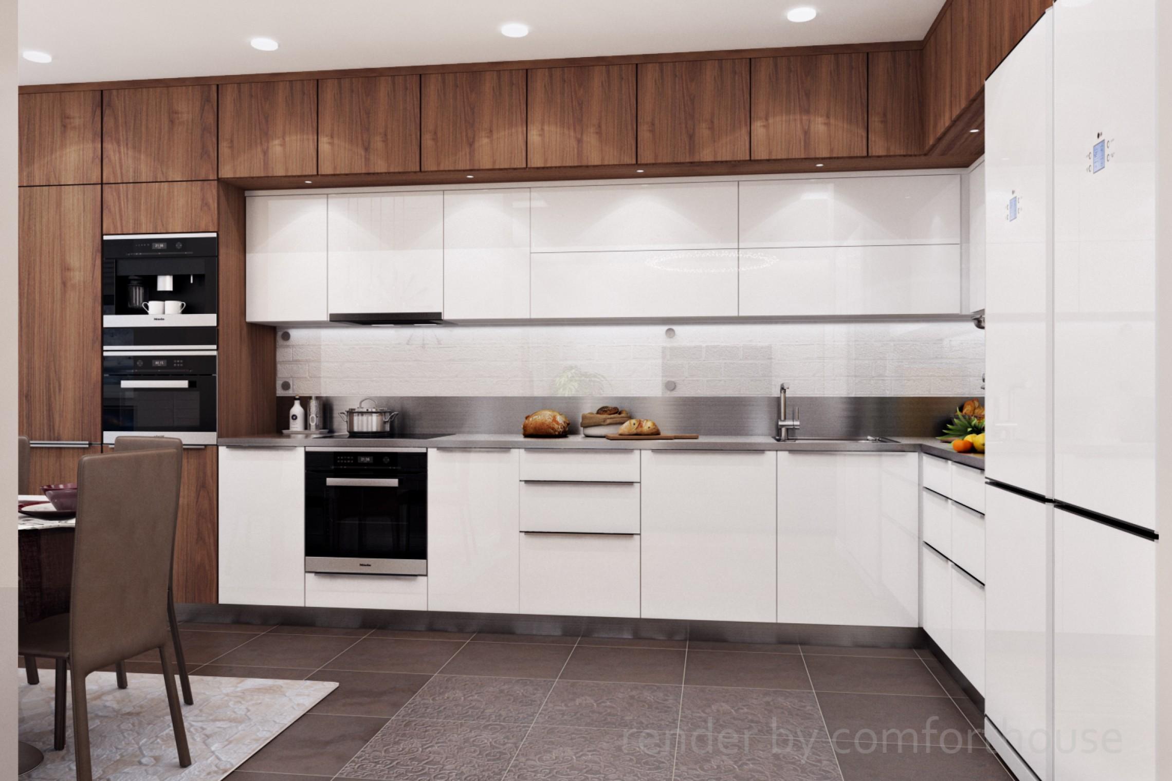 Modern light interior kitchen