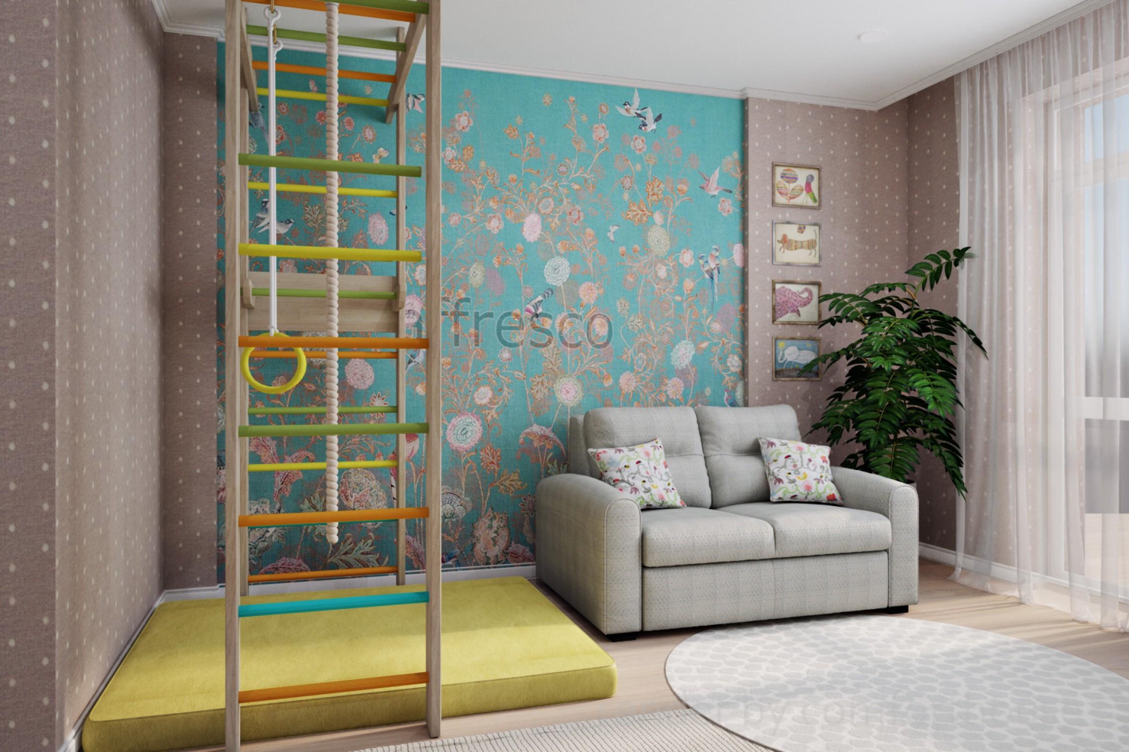 Modern light interior kids room