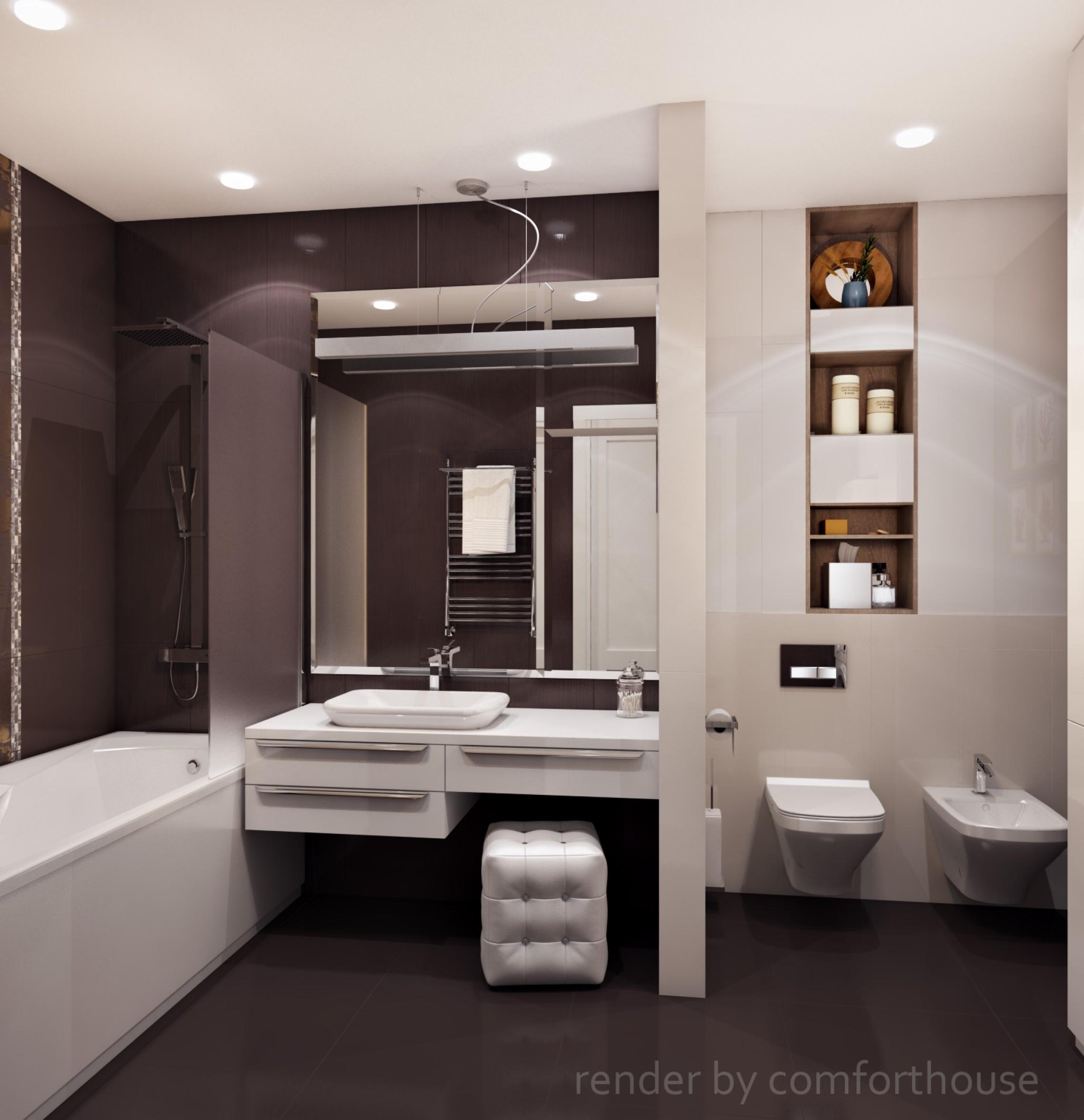 Modern light interior bathroom