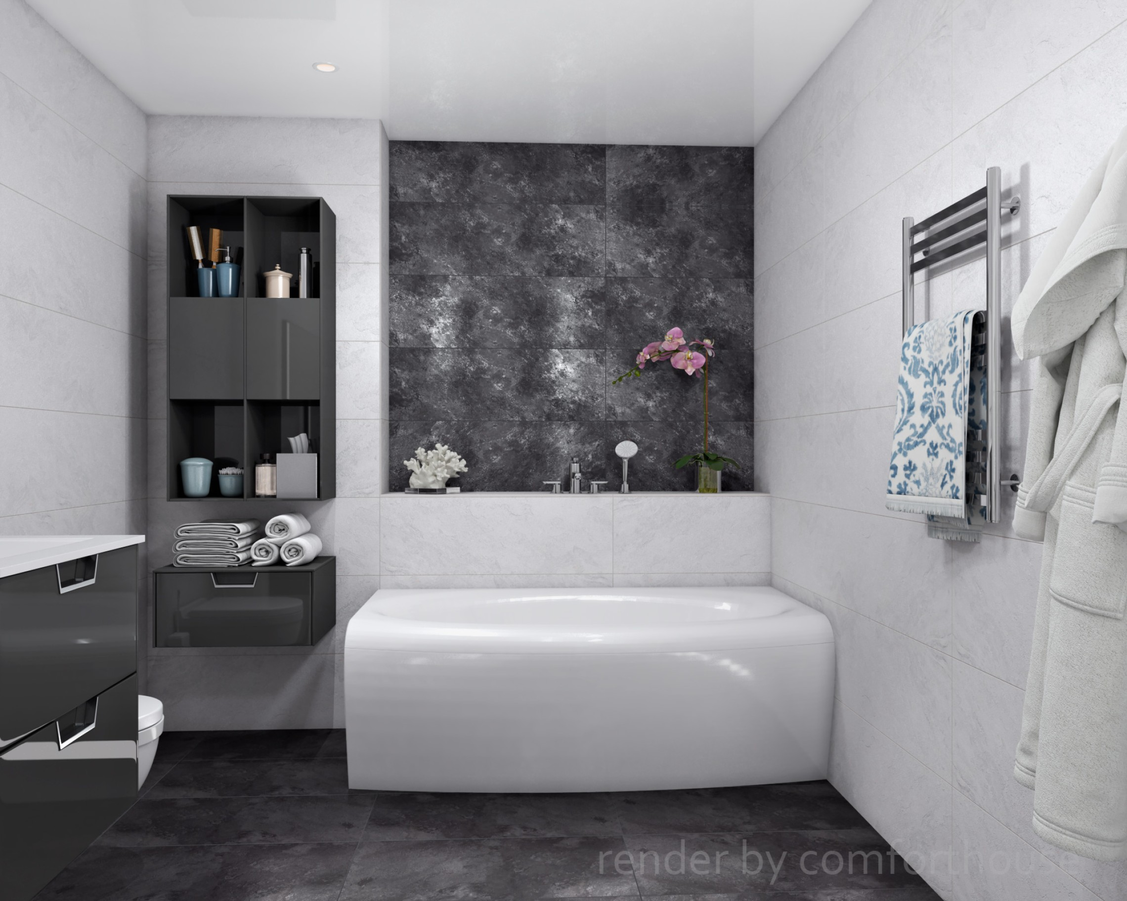 interior design bathroom black and white