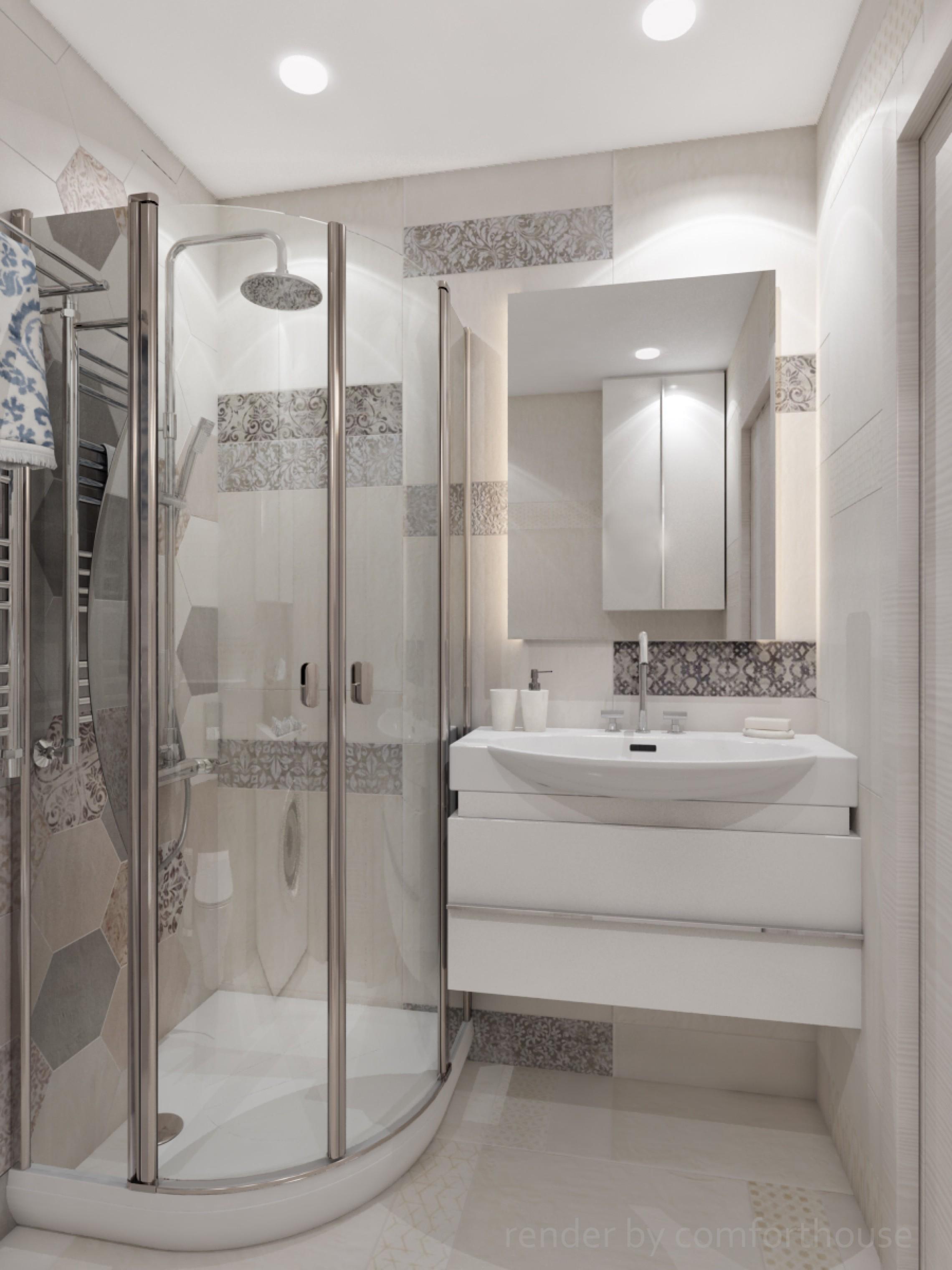 interior bathroom patchwork