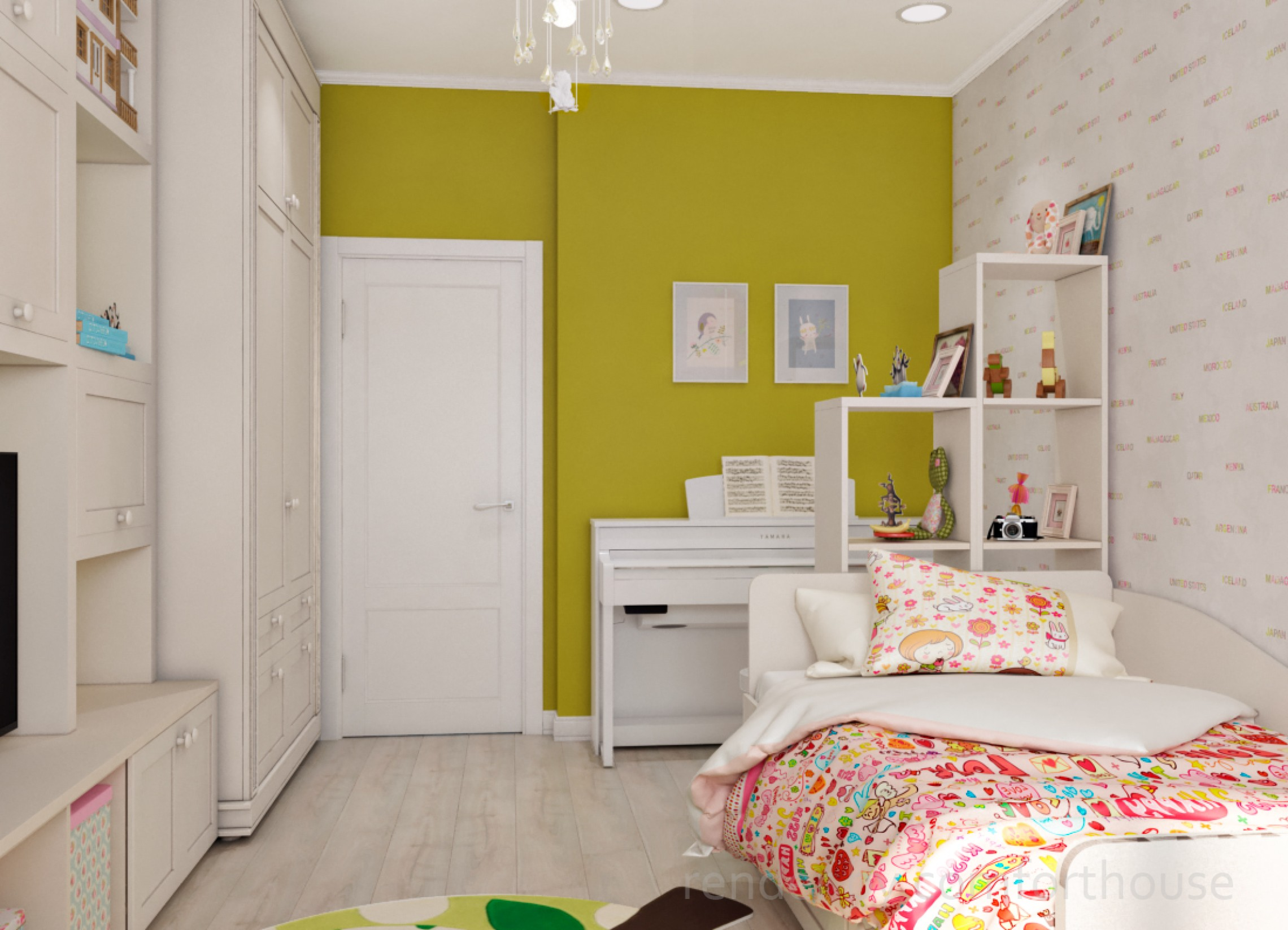 interior design kidsroom for girl