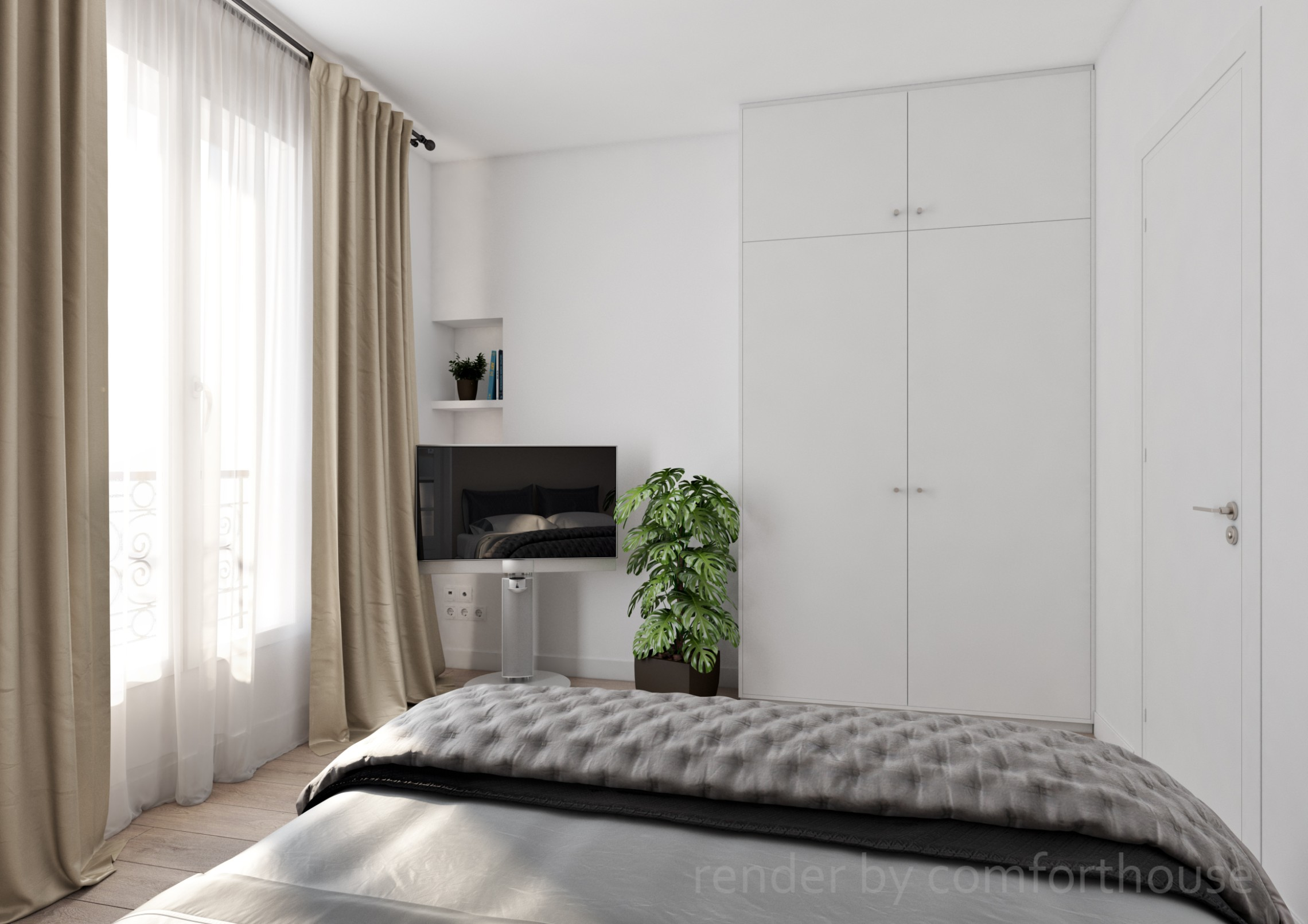 beautiful white interior Paris