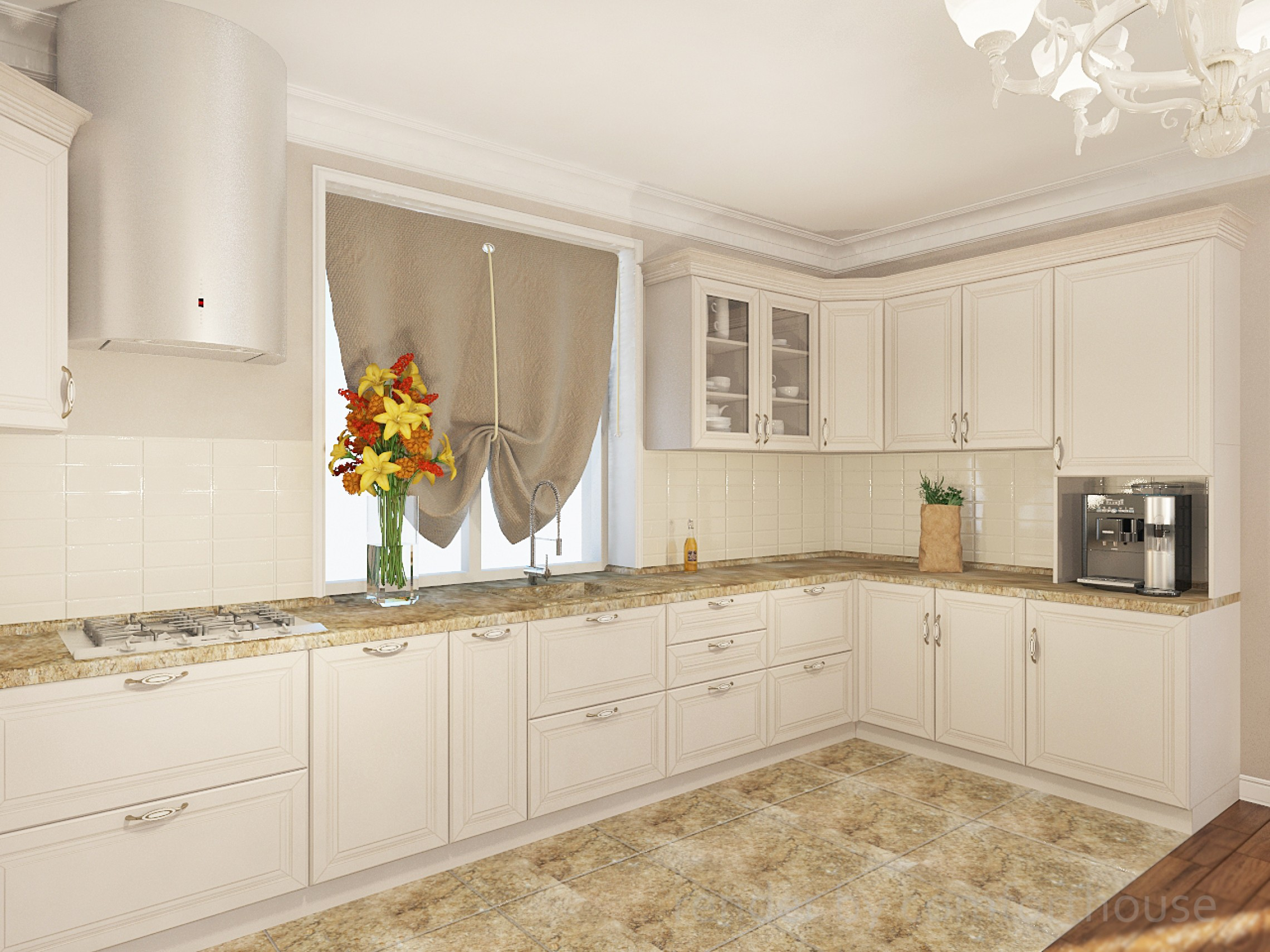 3d visualization kitchen area