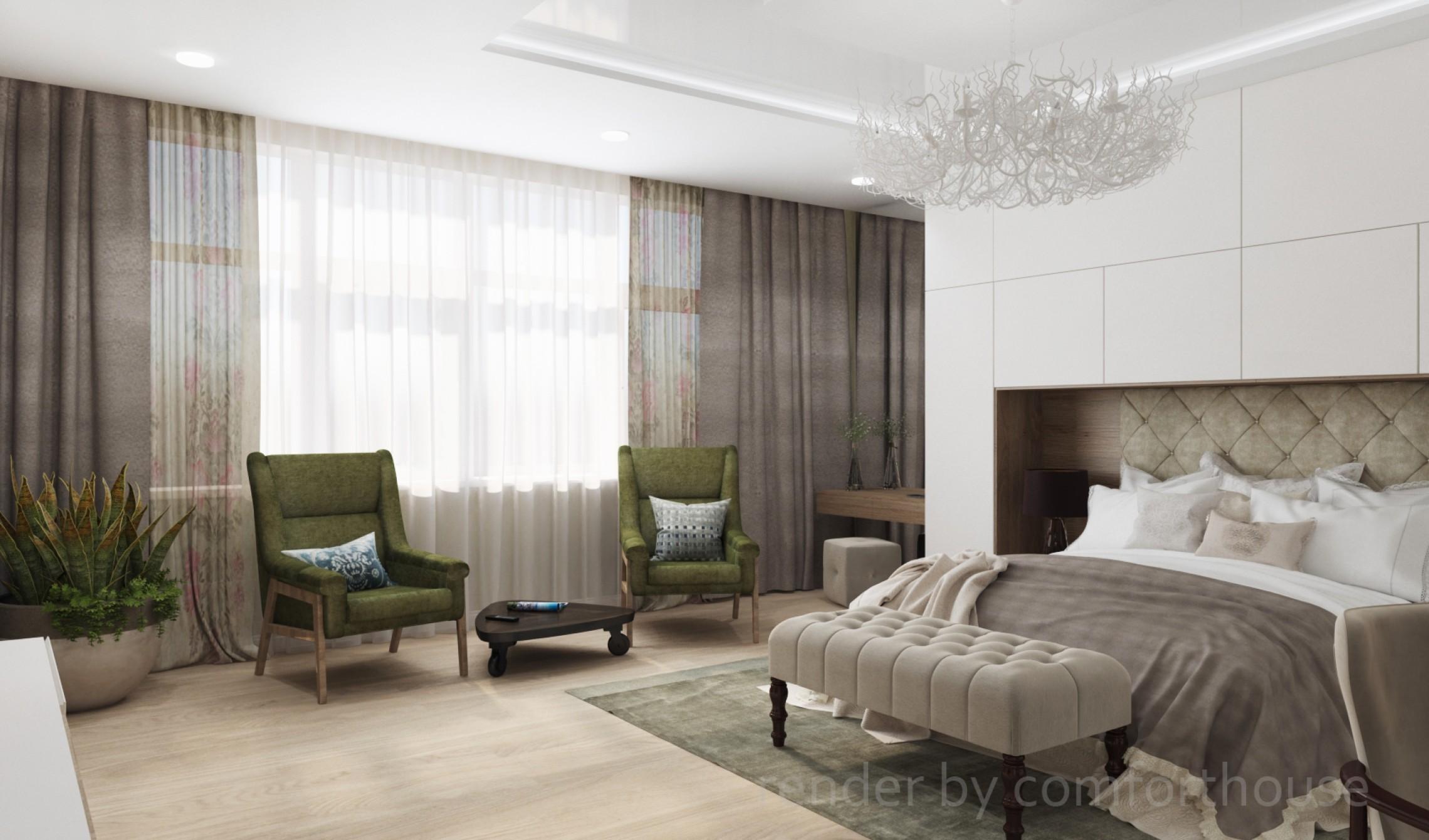 modern interior bedroom