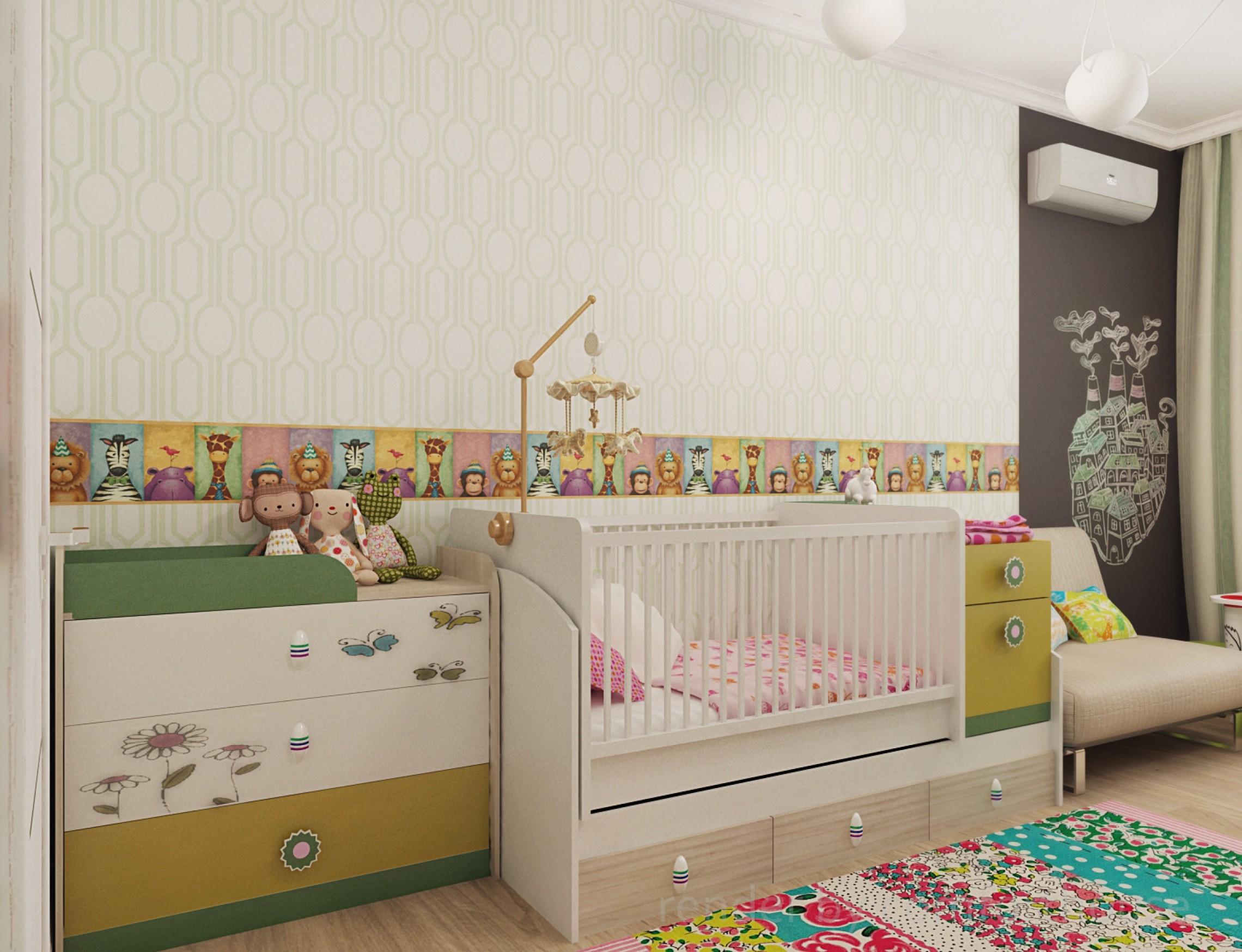 modern interior kids room
