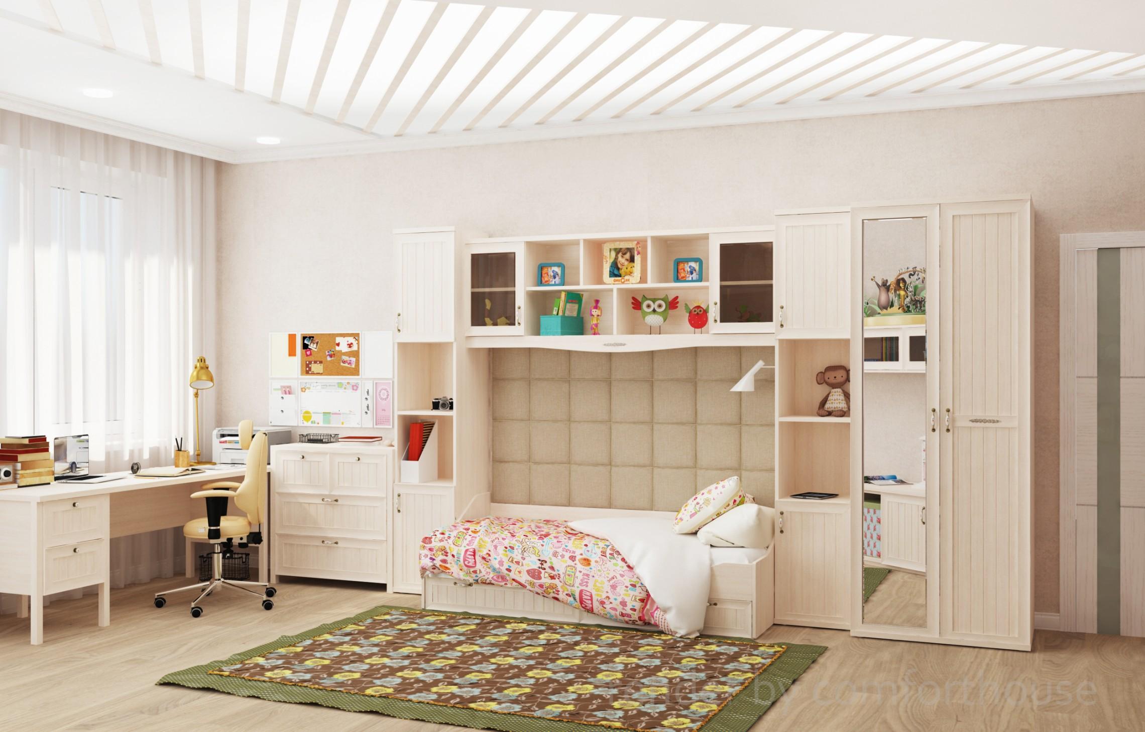 modern interior kids room for girl