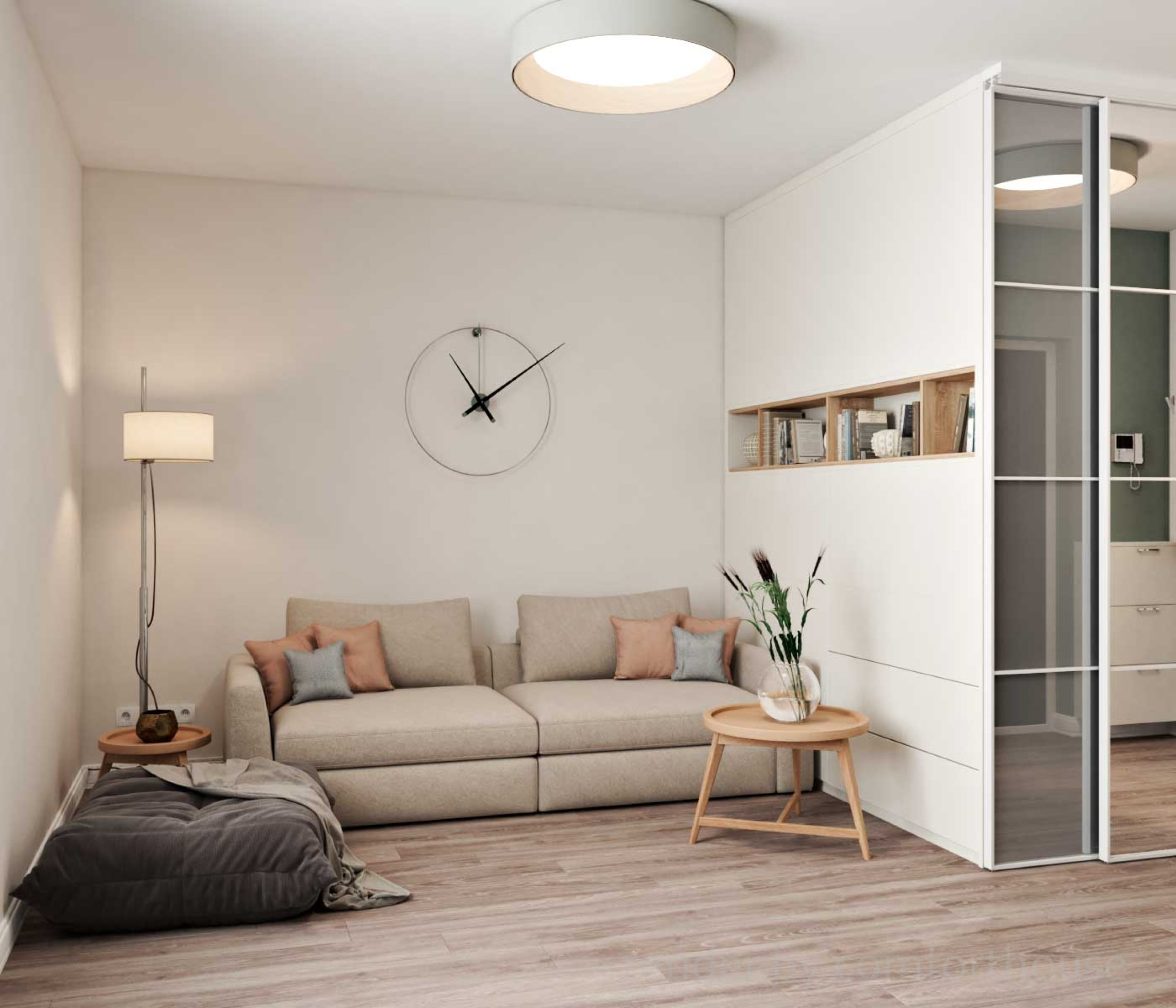modern apartment livingroom
