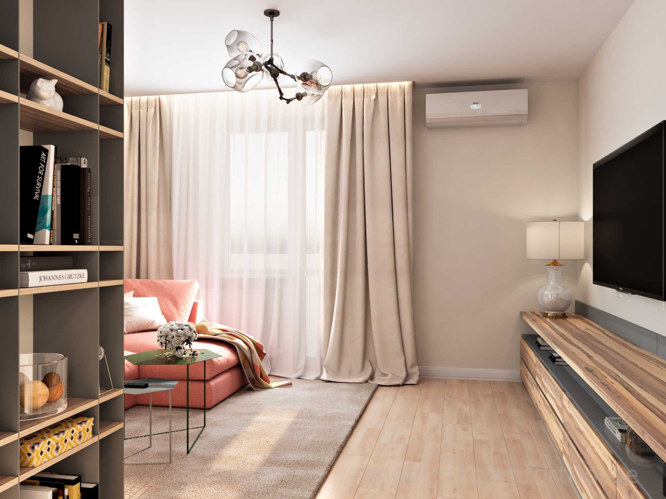 bright modern interior livingroom