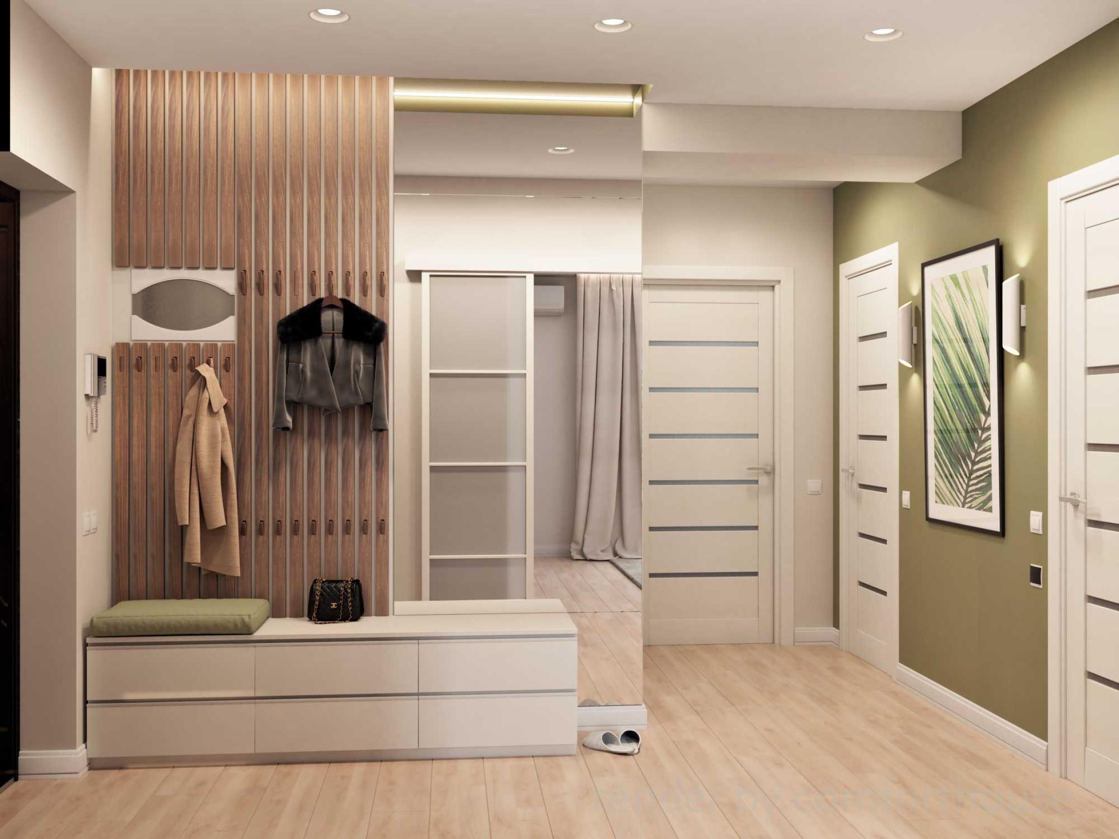 bright modern interior holl