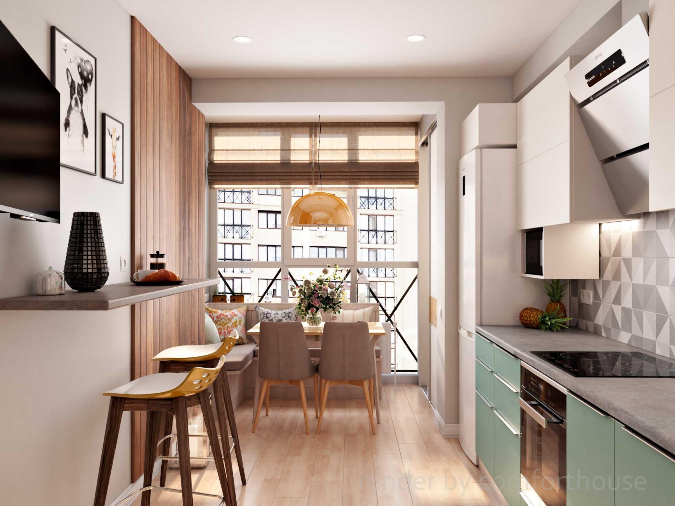 bright modern interior kitchen