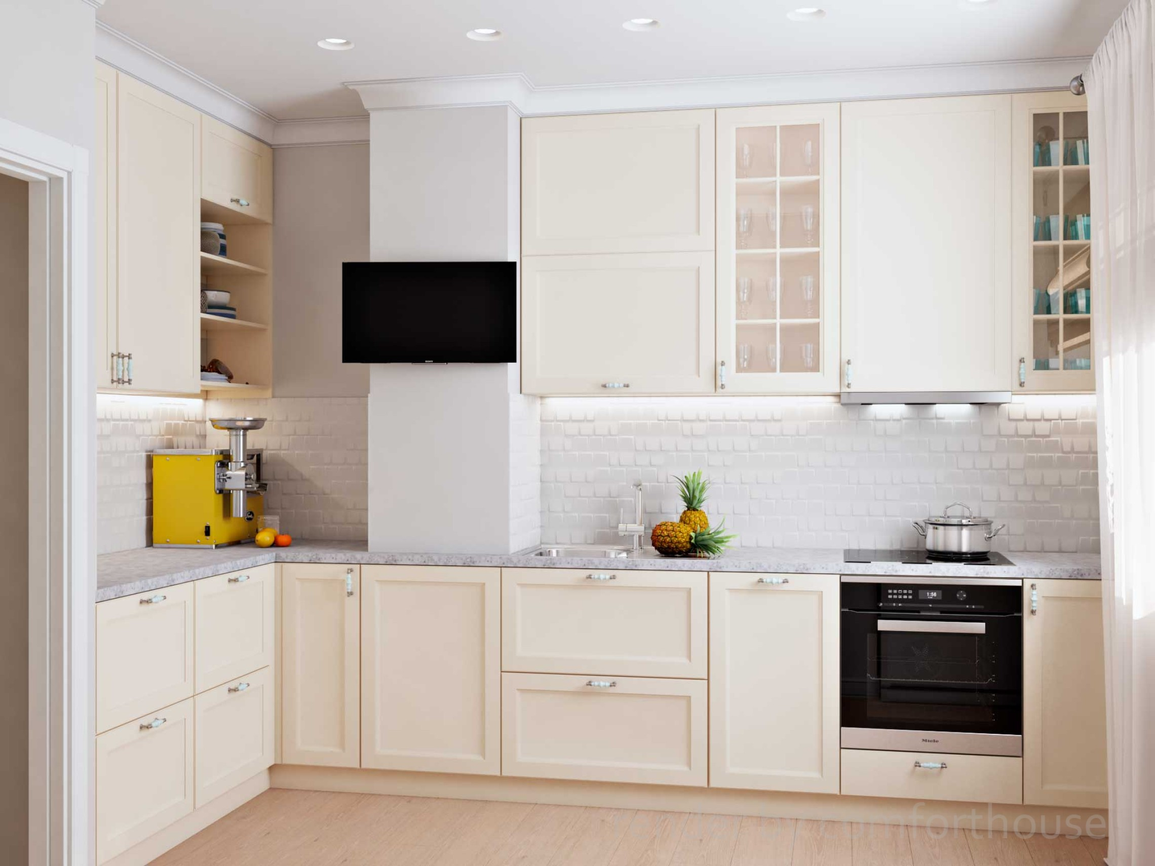 functional light interior kitchen