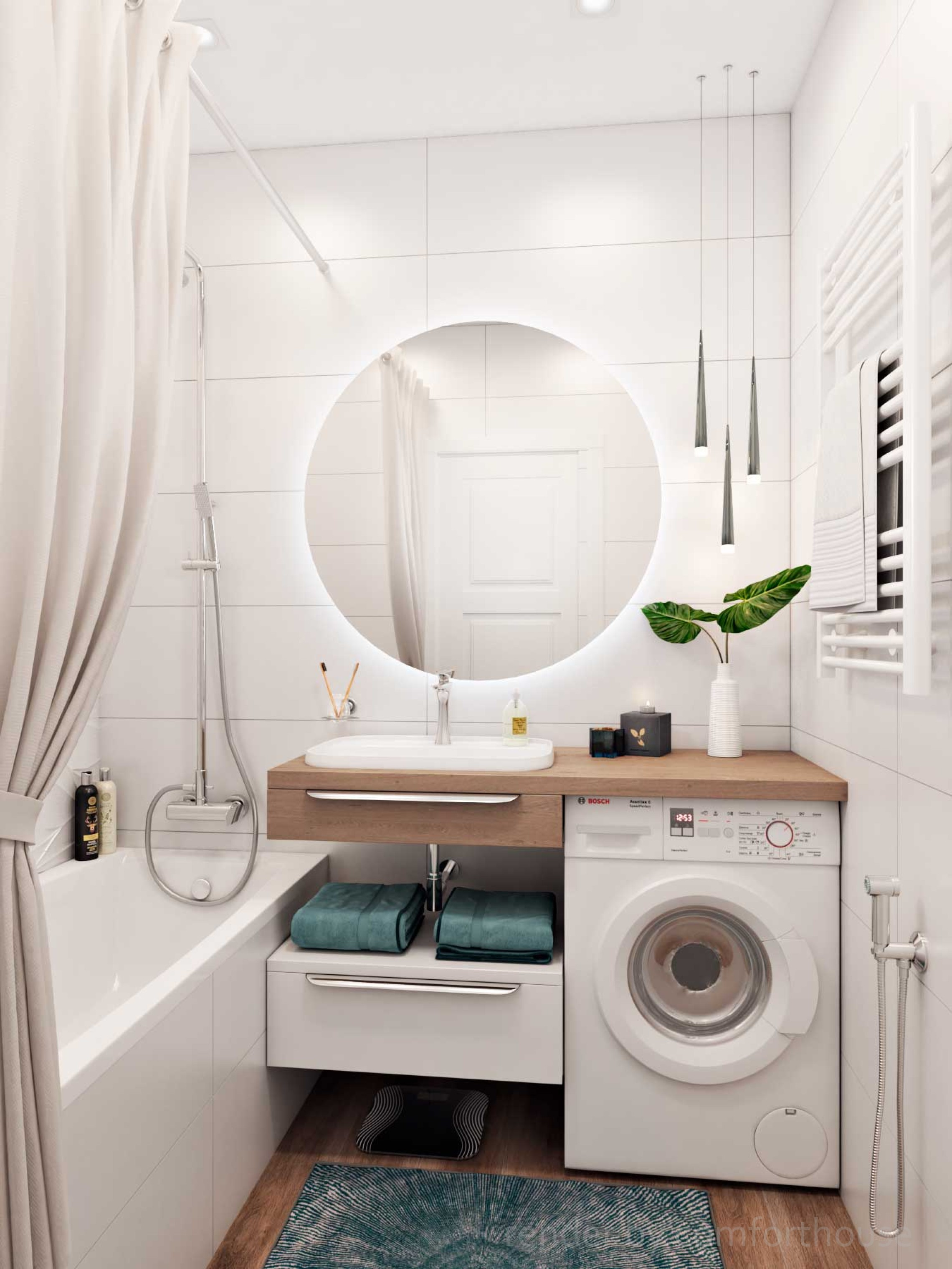 functional light interior bathroom