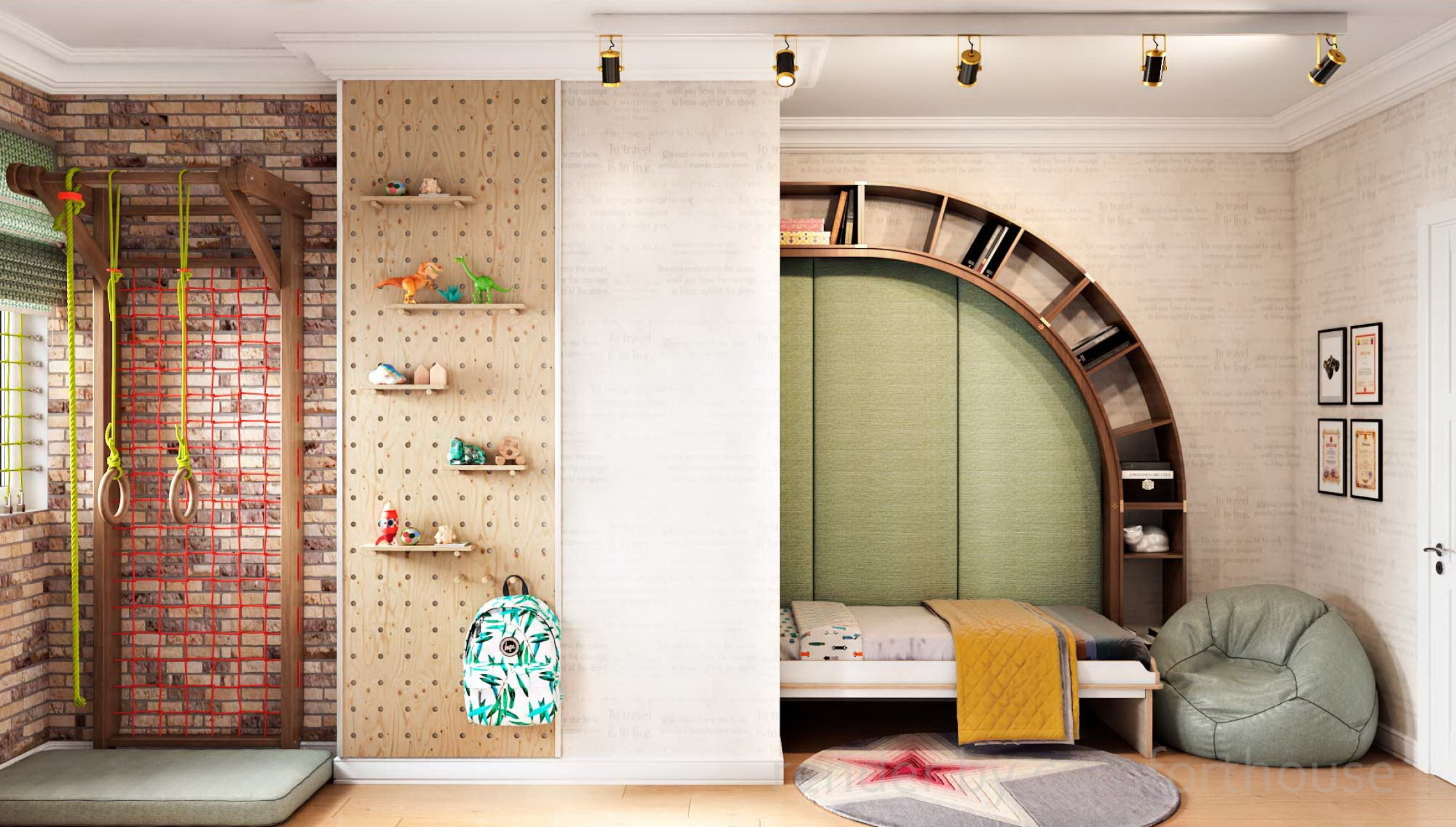functional light interior kidsroom