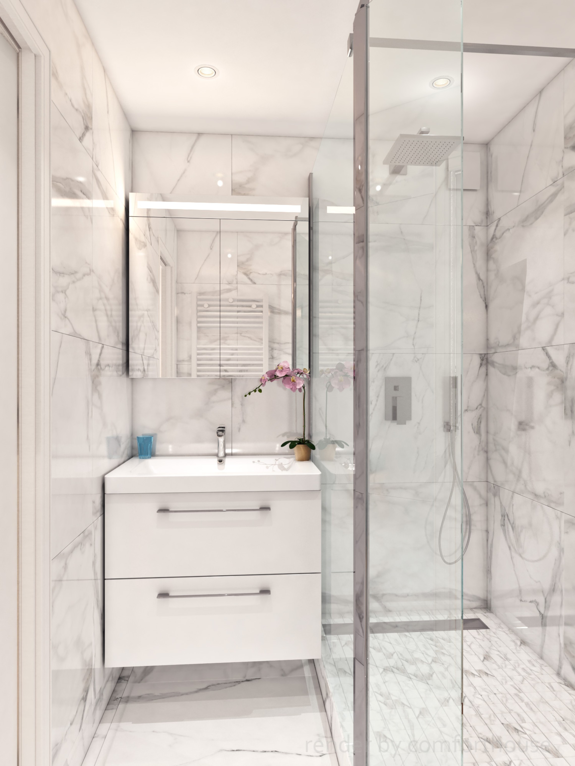 modern apartments bathroom