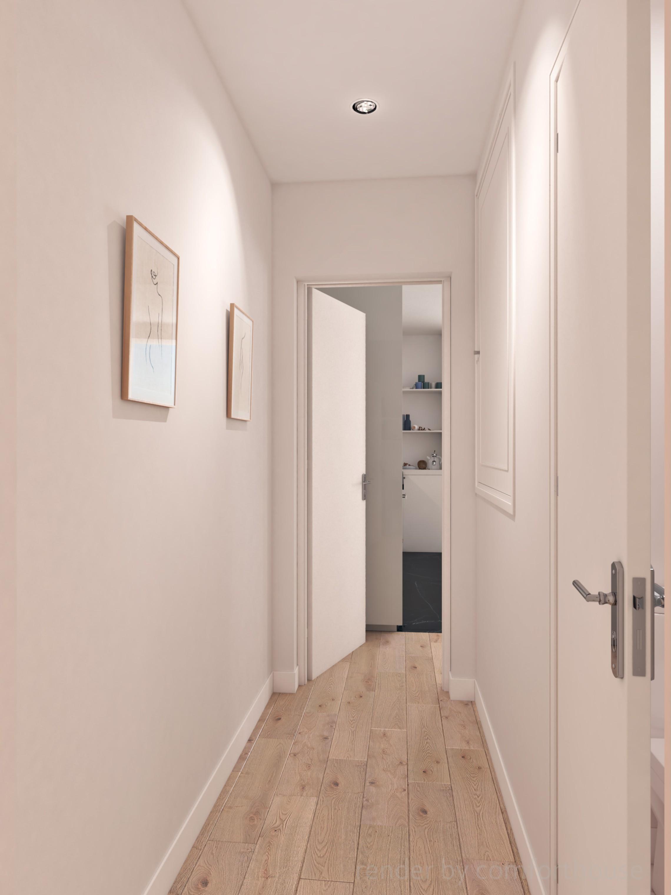 modern apartments hall