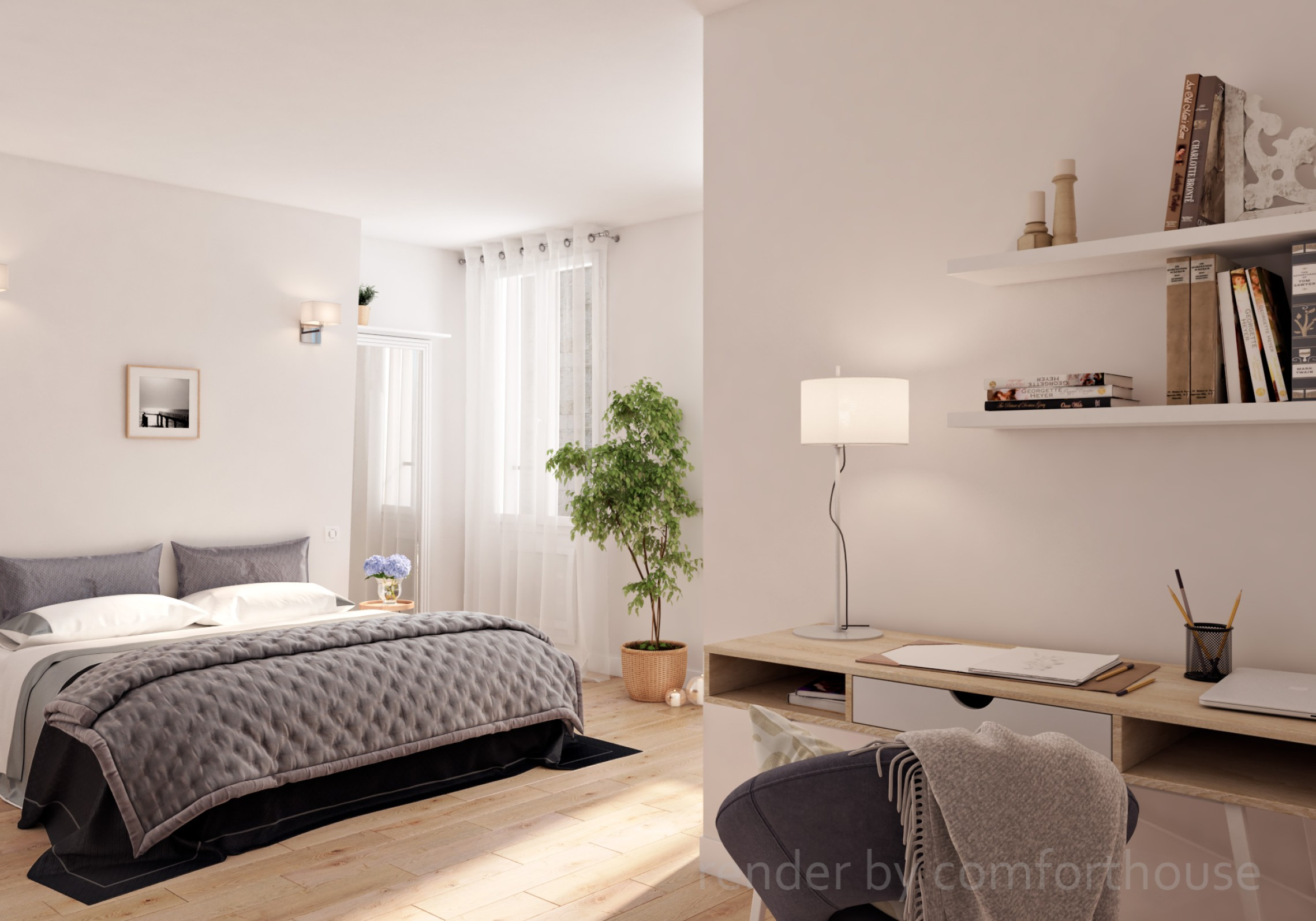 modern apartments bedroom