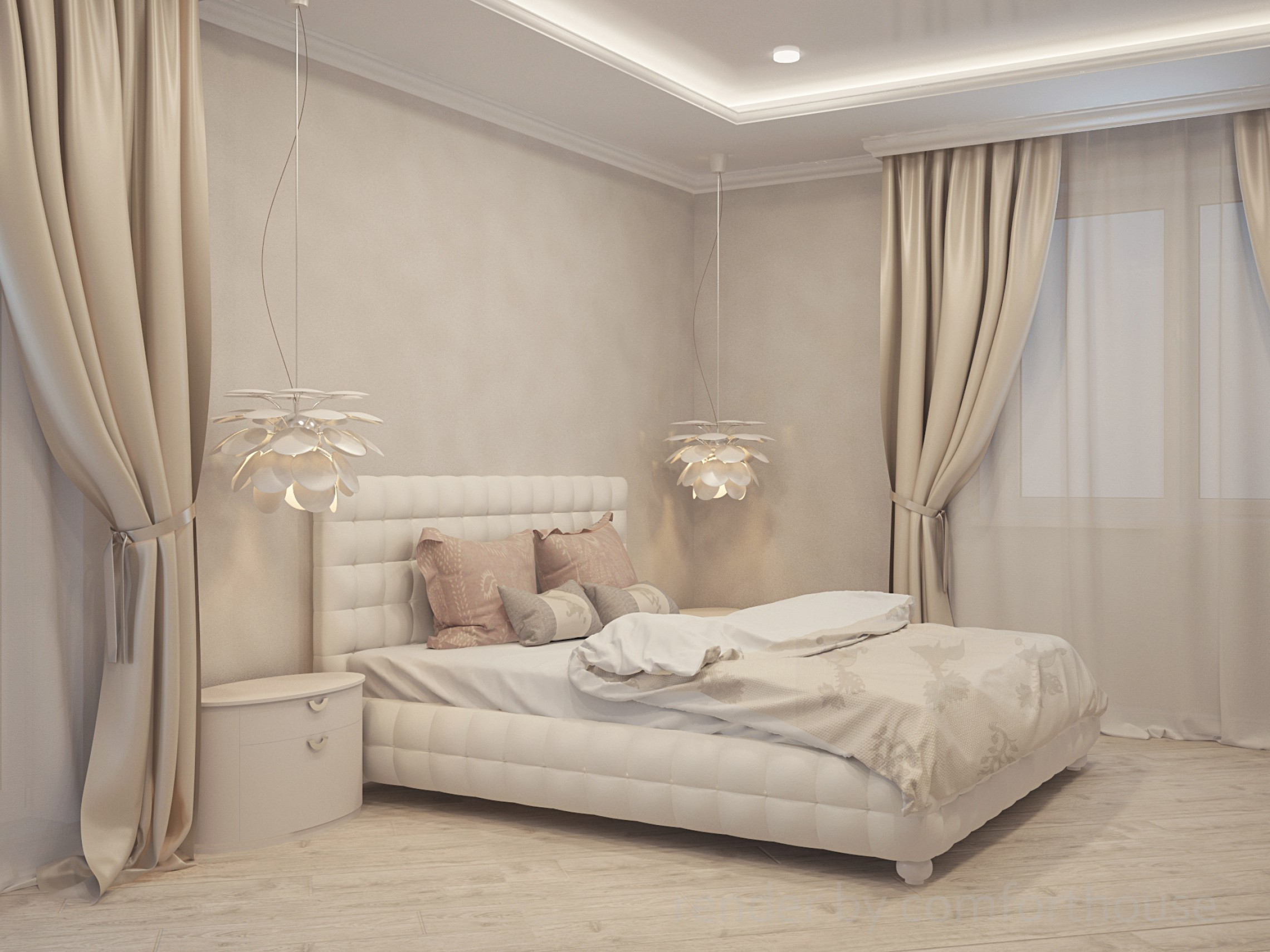 beige interior provence bedroom