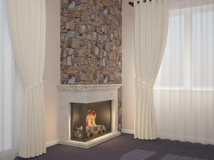 Fireplace 3D visualization